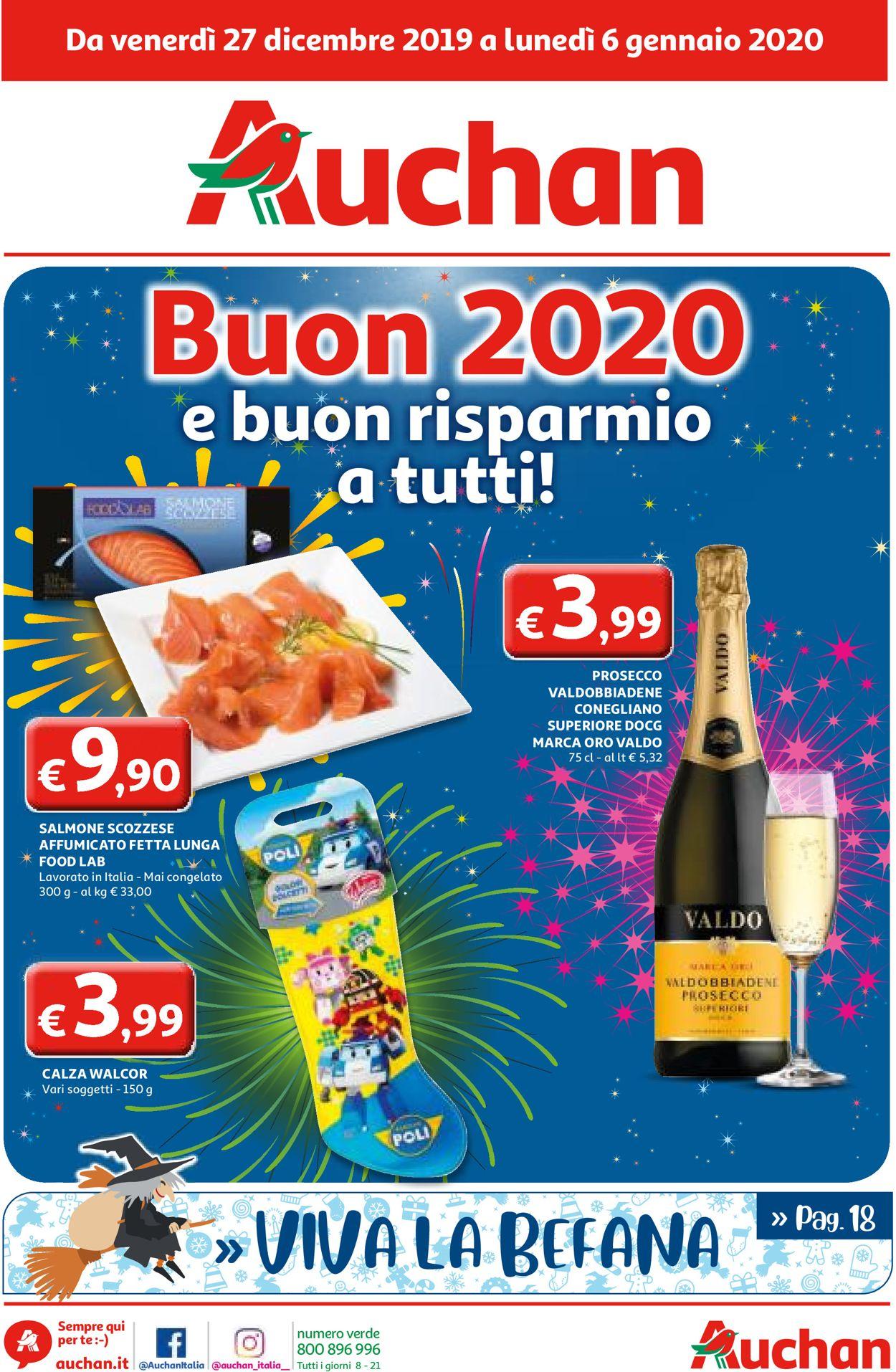 Volantino Volantino per Capodanno - Auchan - Offerte 27/12-06/01/2020