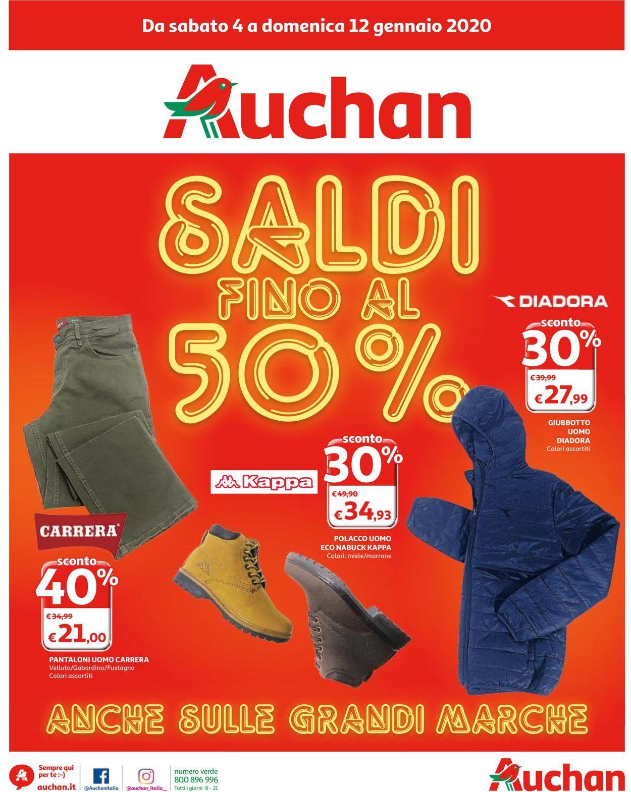 Volantino Auchan - Offerte 04/01-12/01/2020