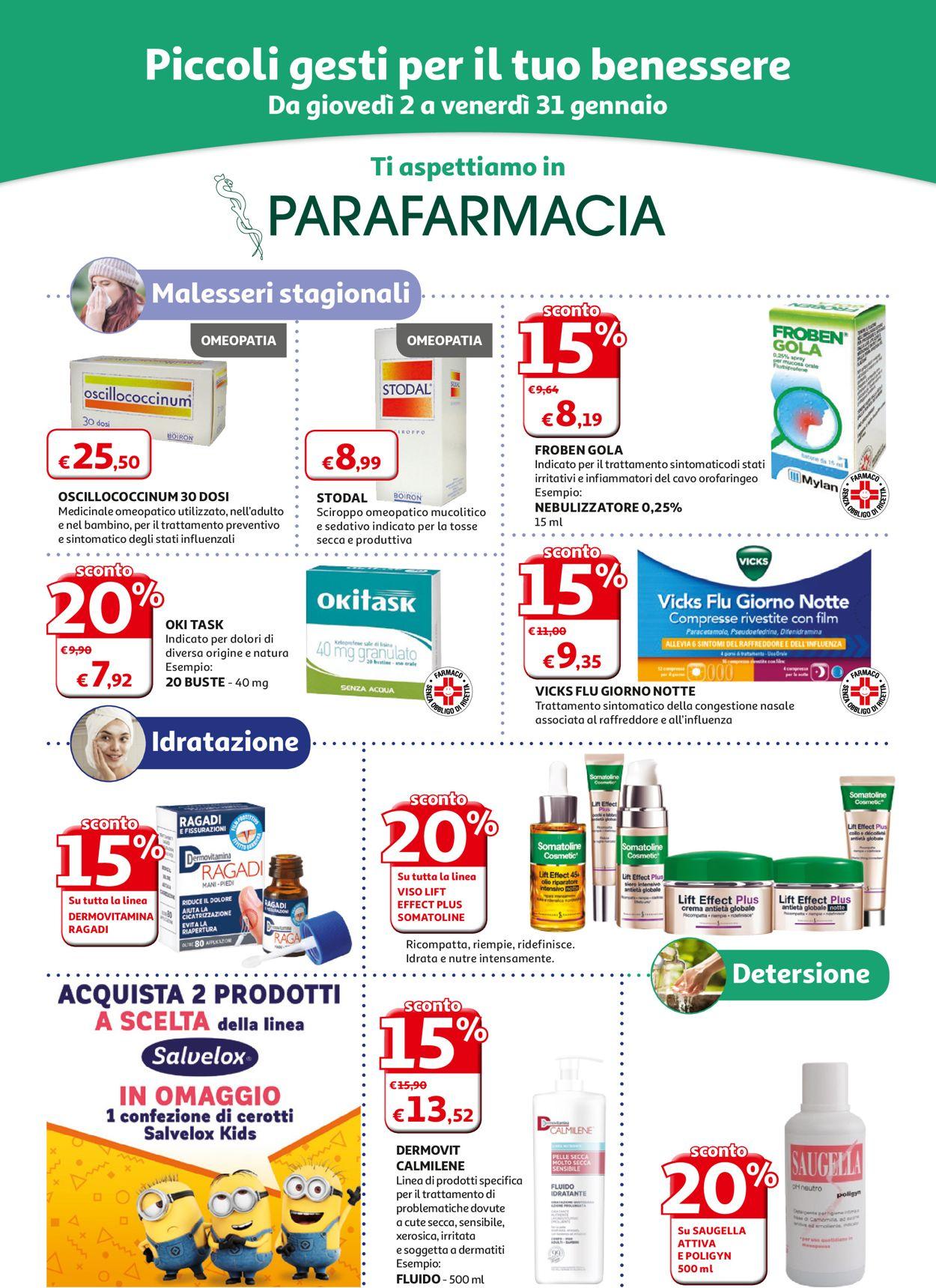 Volantino Auchan - Offerte 02/01-31/01/2020