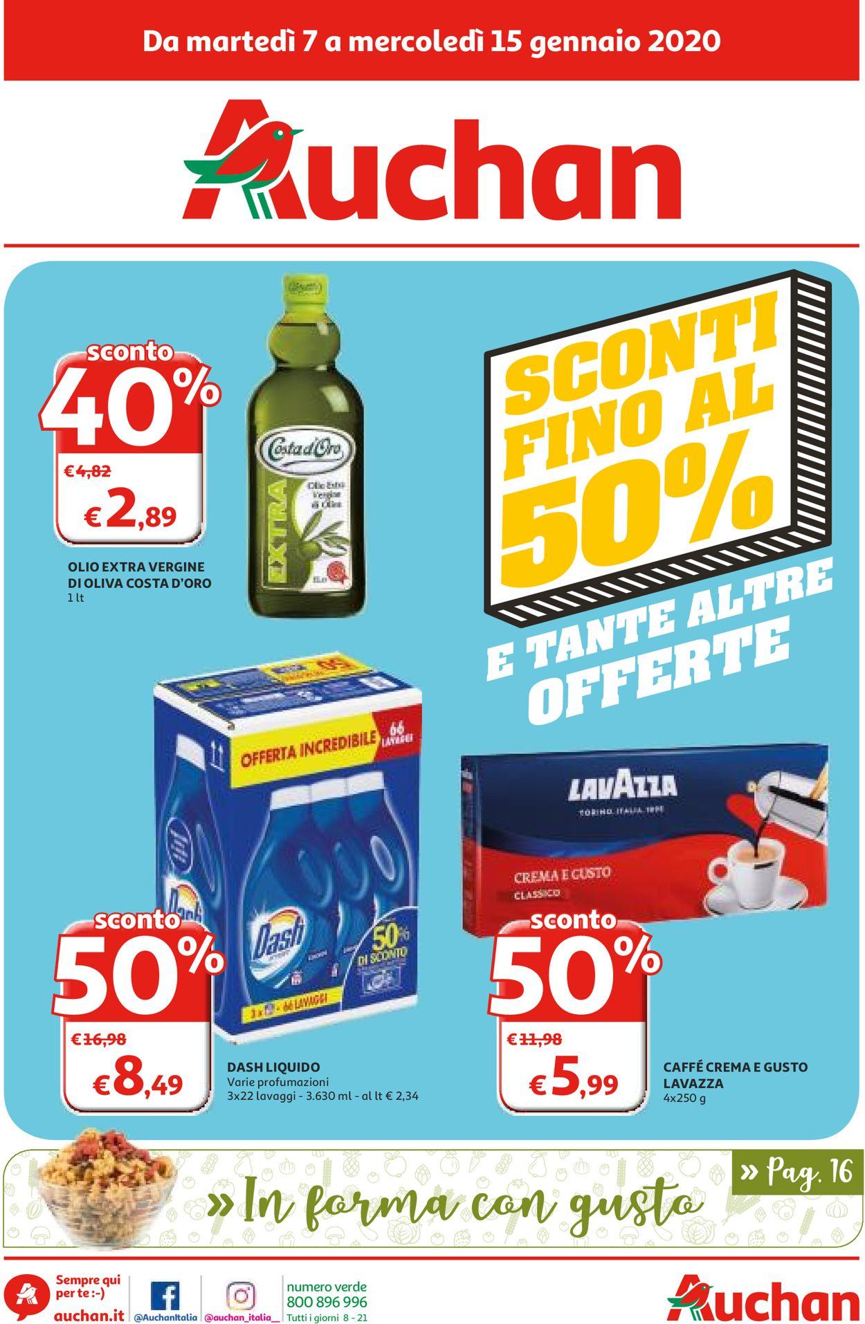 Volantino Auchan - Offerte 07/01-15/01/2020