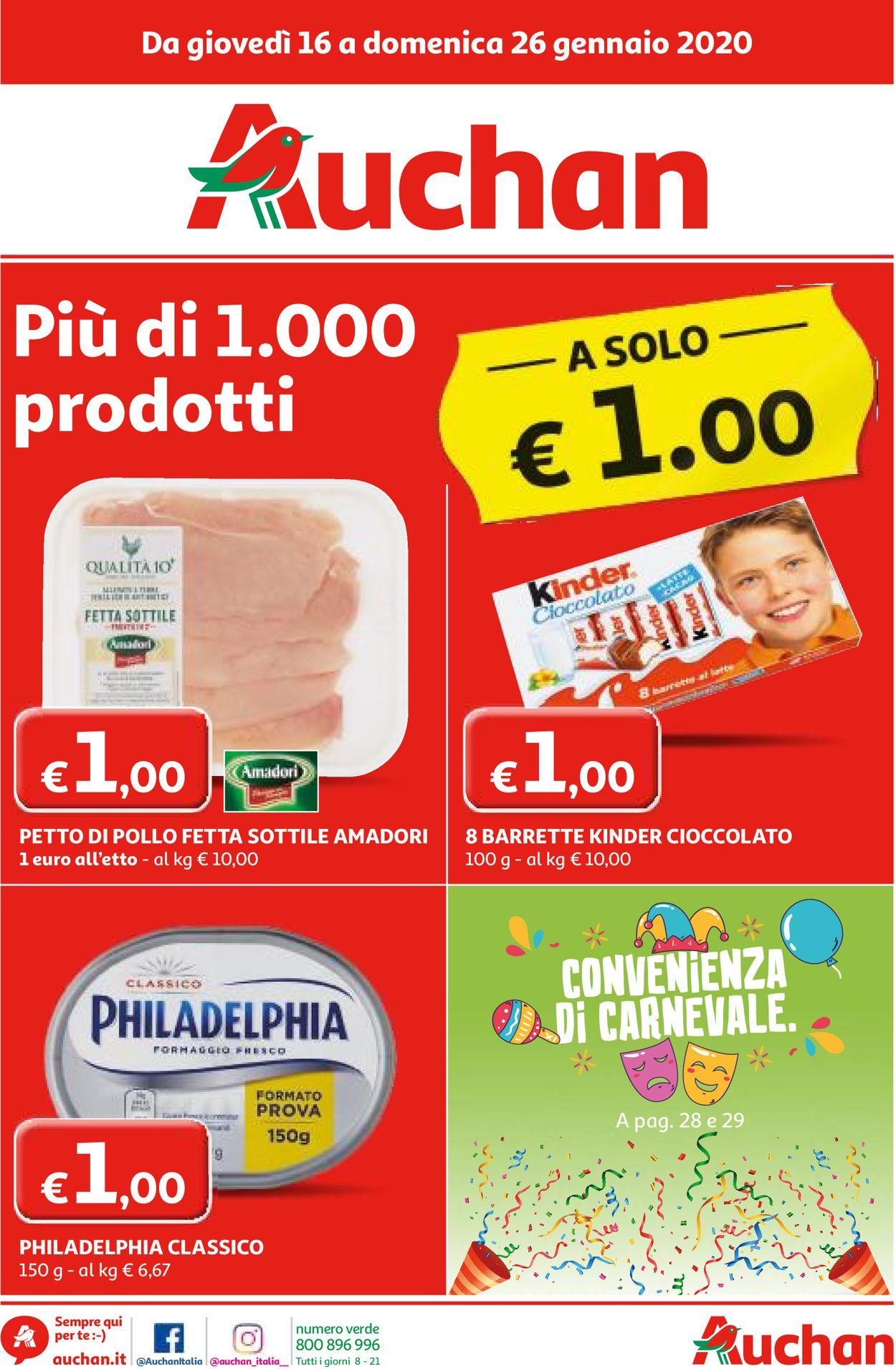 Volantino Auchan - Offerte 16/01-26/01/2020