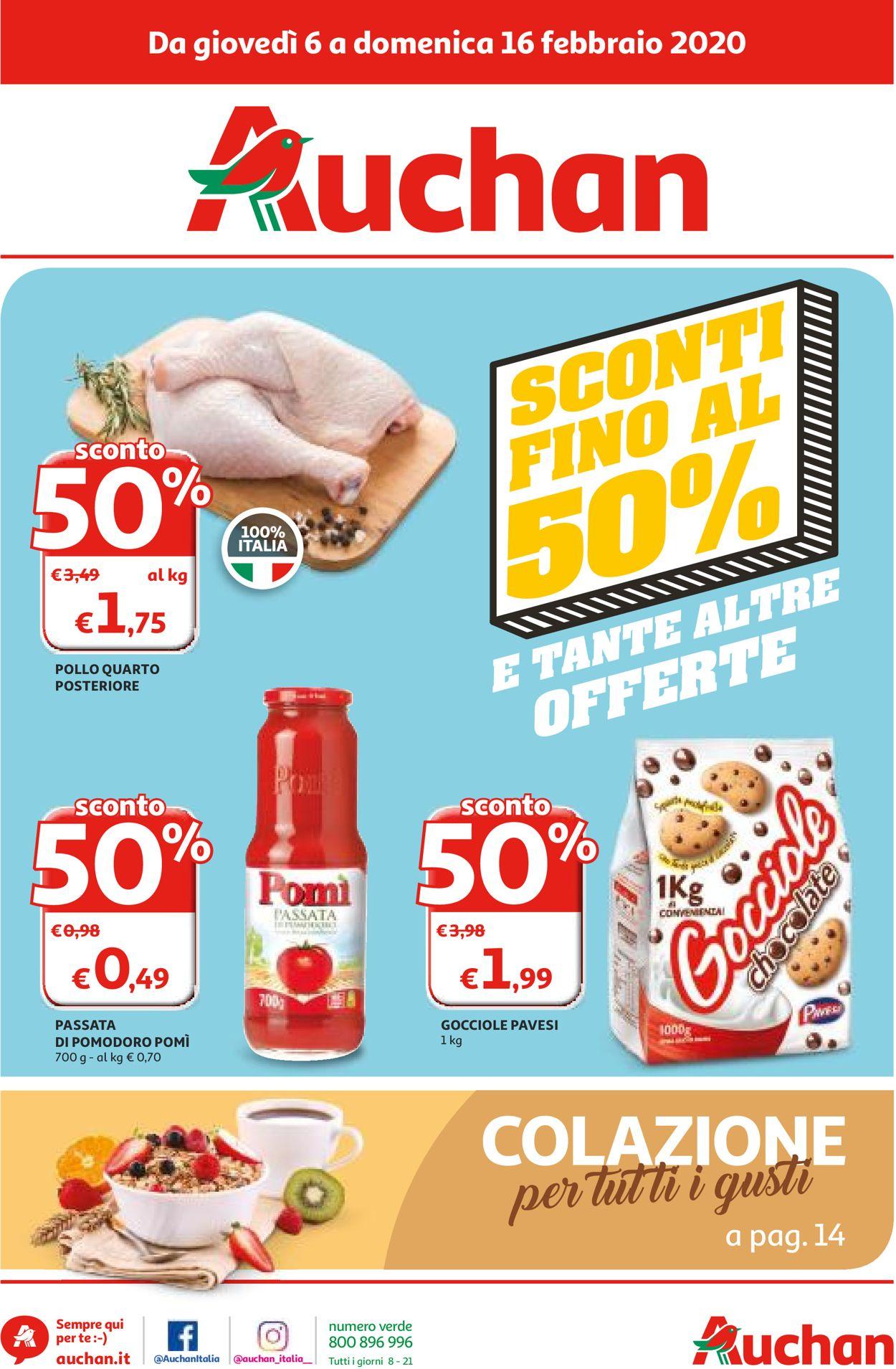 Volantino Auchan - Offerte 06/02-16/02/2020