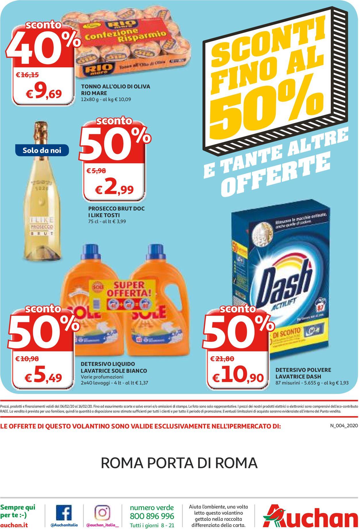 Volantino Auchan - Offerte 06/02-16/02/2020 (Pagina 36)