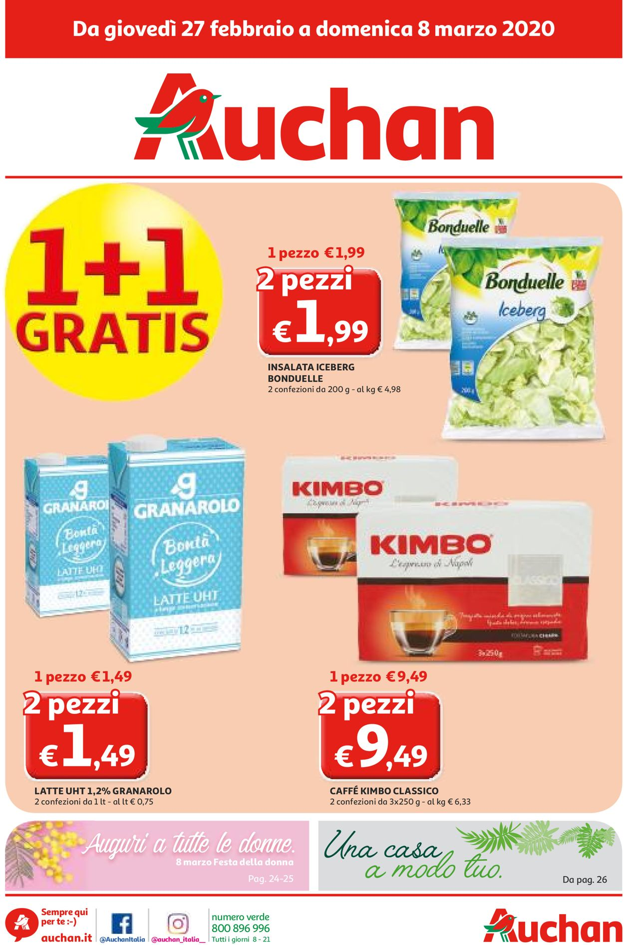 Volantino Auchan - Offerte 27/02-08/03/2020