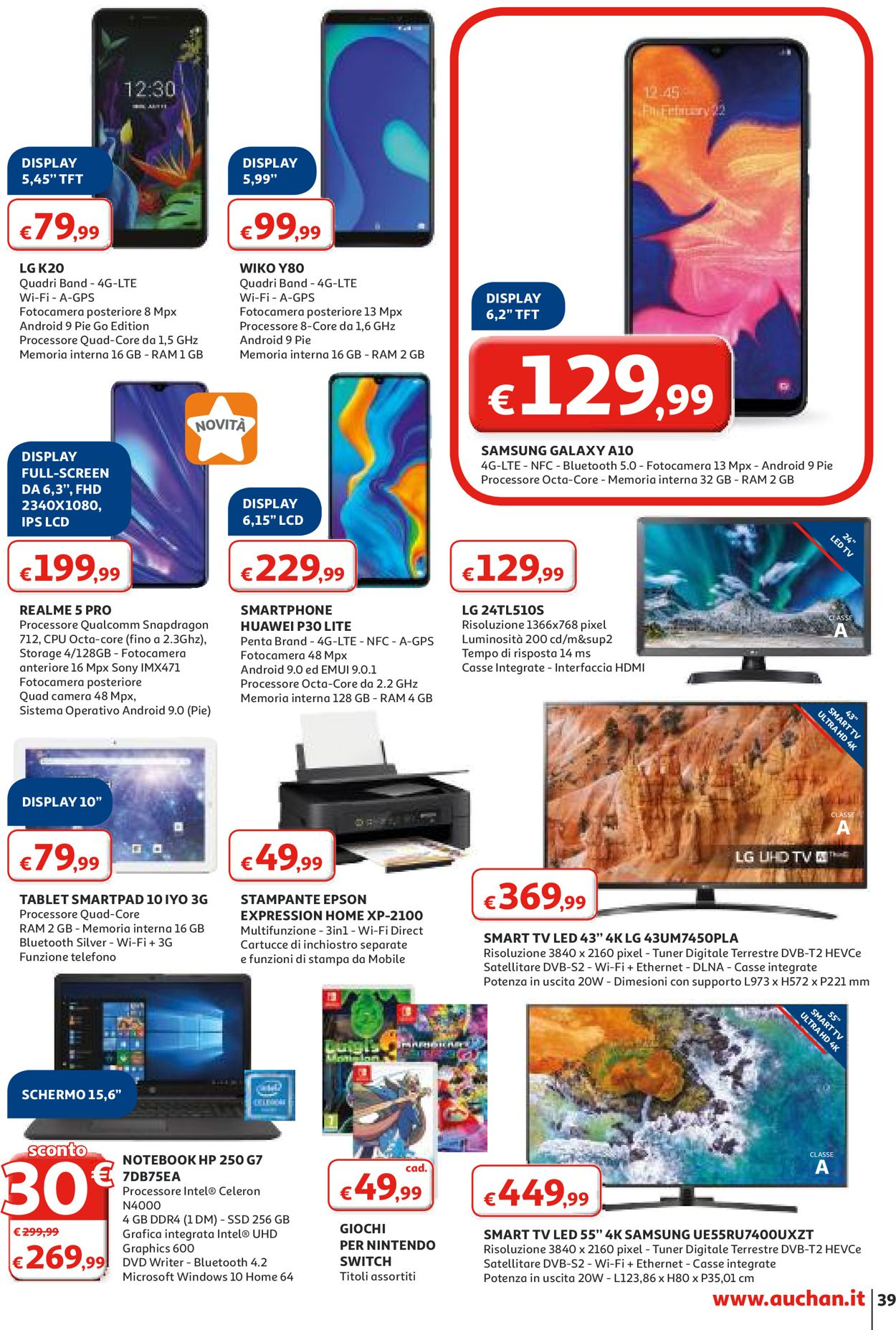 Volantino Auchan - Offerte 27/02-08/03/2020 (Pagina 39)