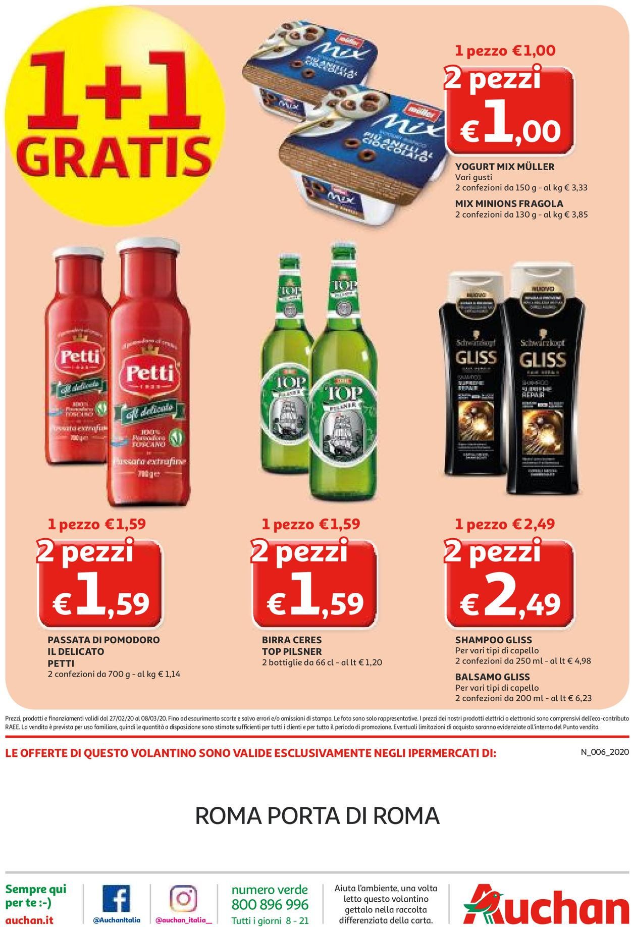 Volantino Auchan - Offerte 27/02-08/03/2020 (Pagina 40)