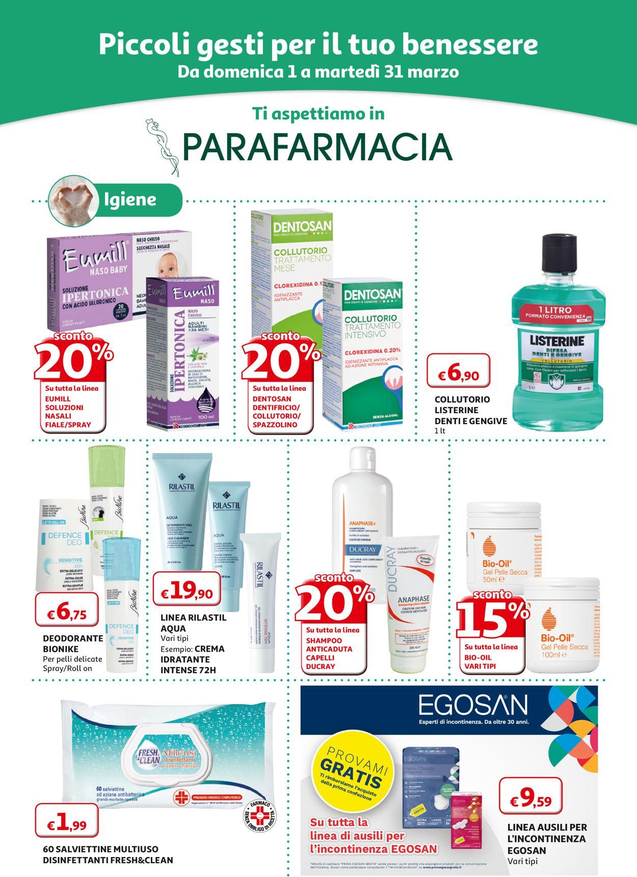 Volantino Auchan - Offerte 01/03-31/03/2020