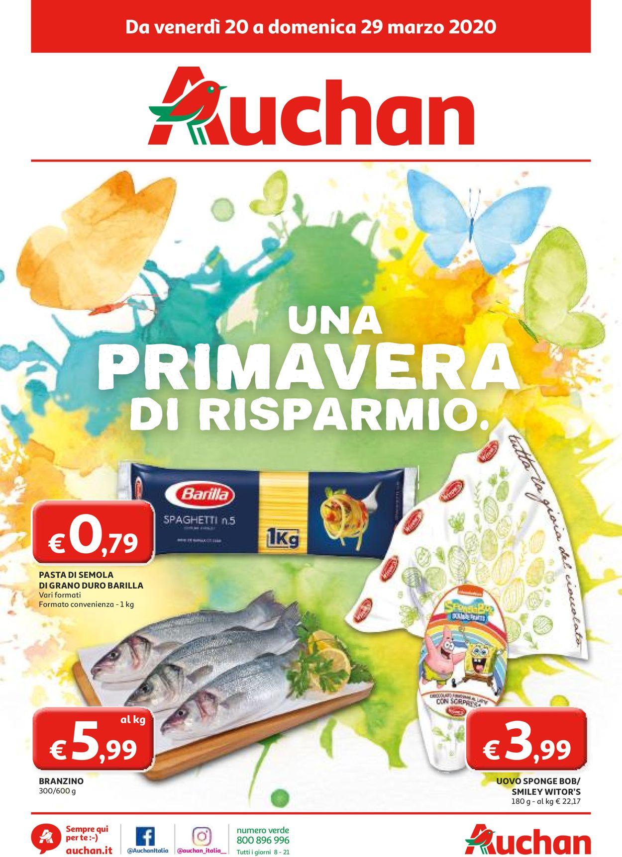 Volantino Auchan - Offerte 20/03-29/03/2020