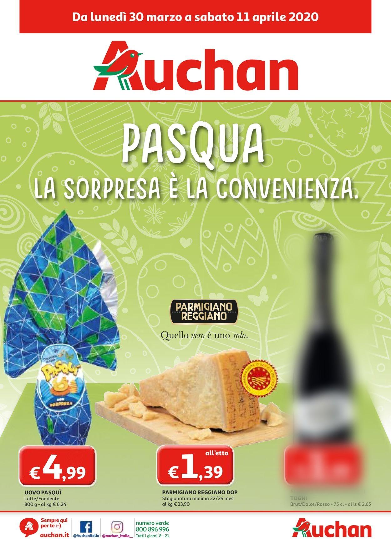 Volantino Auchan - Offerte 30/03-11/04/2020