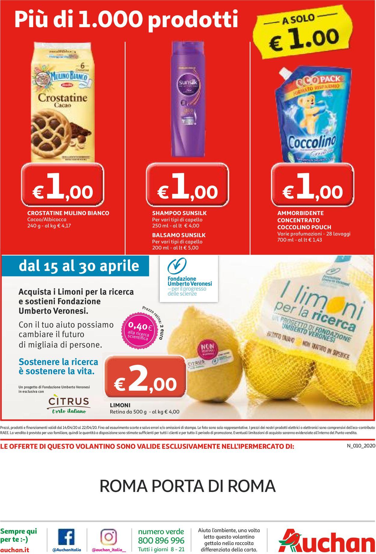 Volantino Auchan - Offerte 14/04-22/04/2020 (Pagina 32)