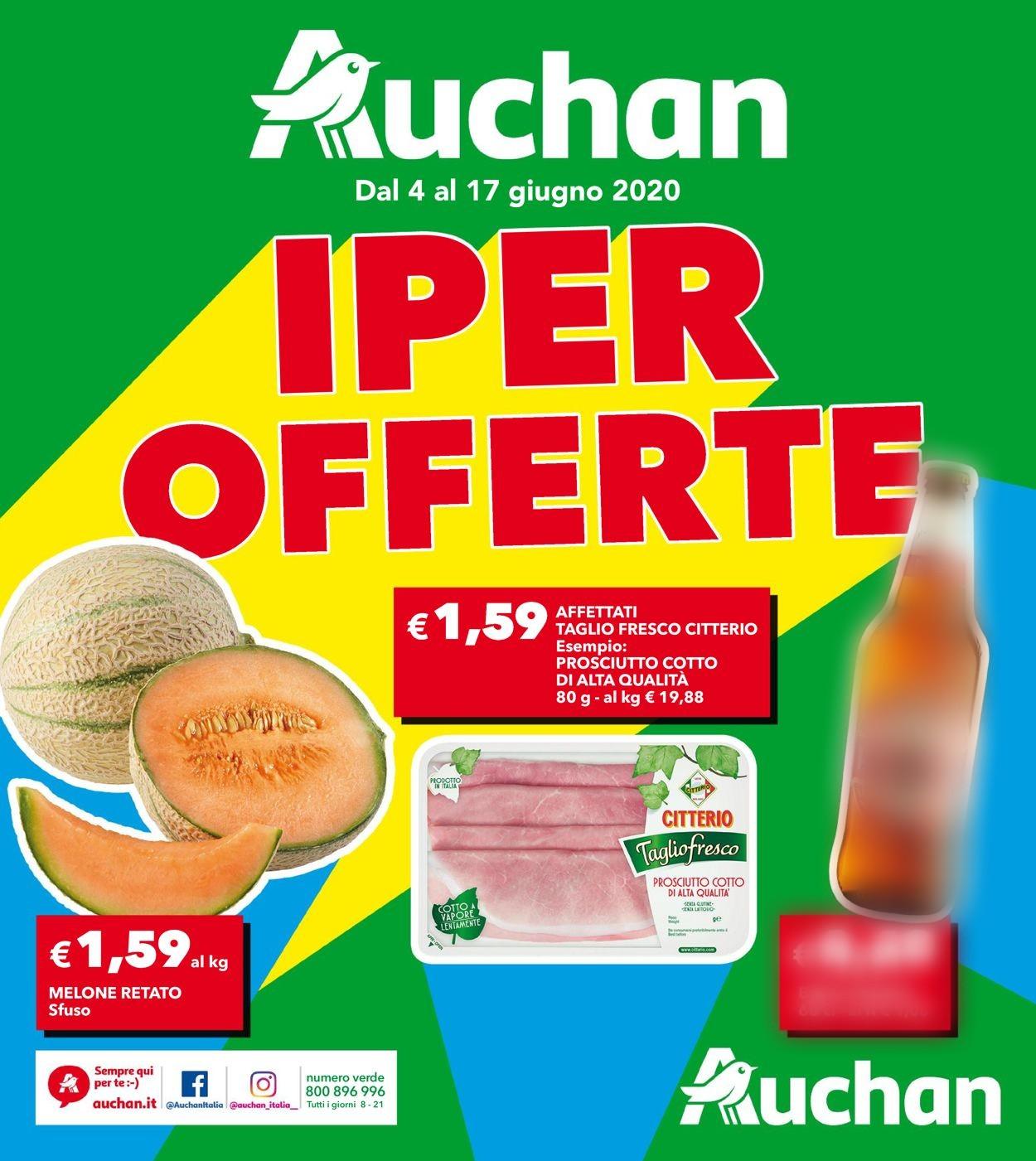 Volantino Auchan - Offerte 04/06-17/06/2020