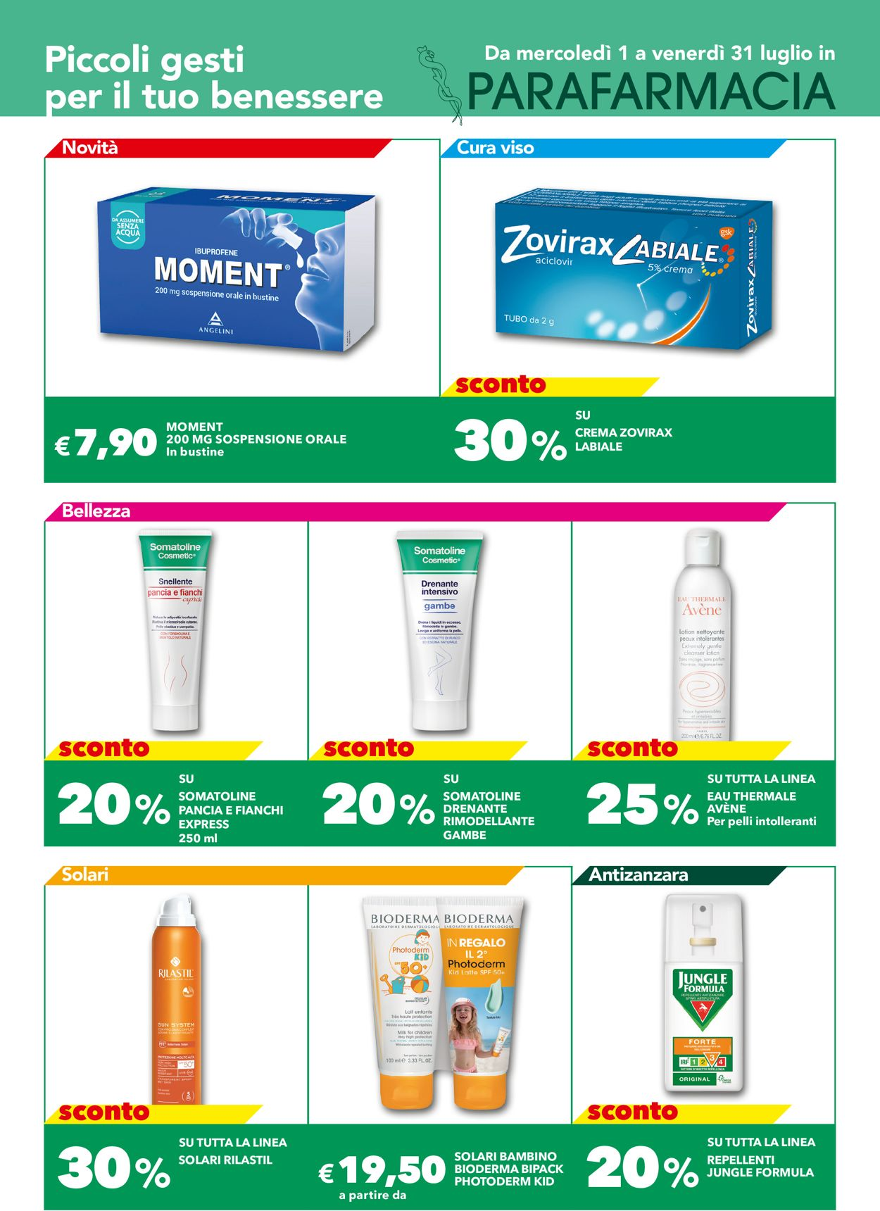 Volantino Auchan - Offerte 01/07-31/07/2020
