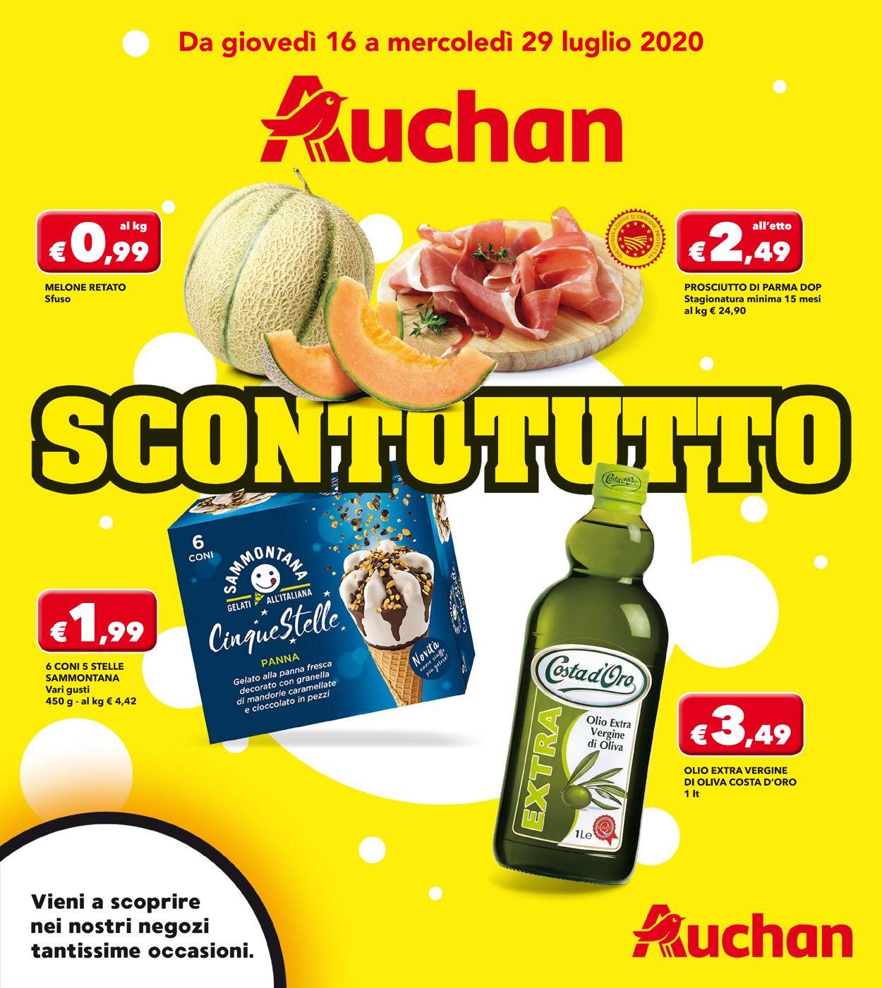Volantino Auchan - Offerte 16/07-29/07/2020