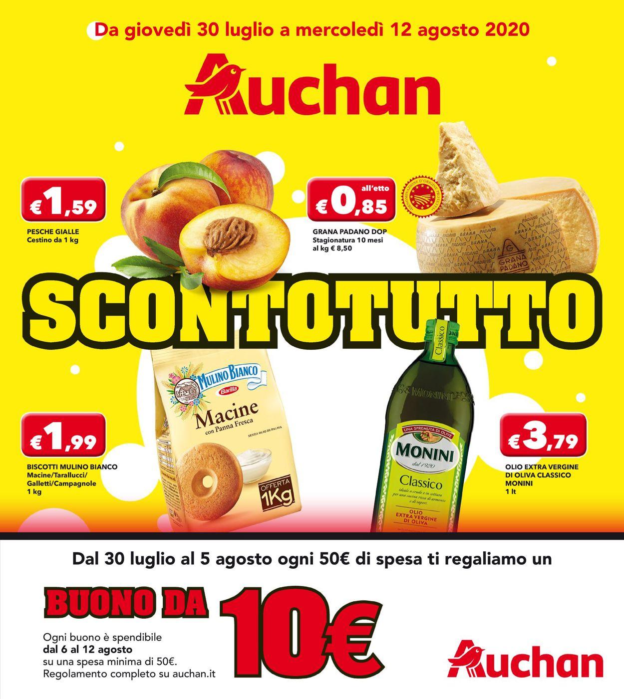 Volantino Auchan - Offerte 30/07-12/08/2020