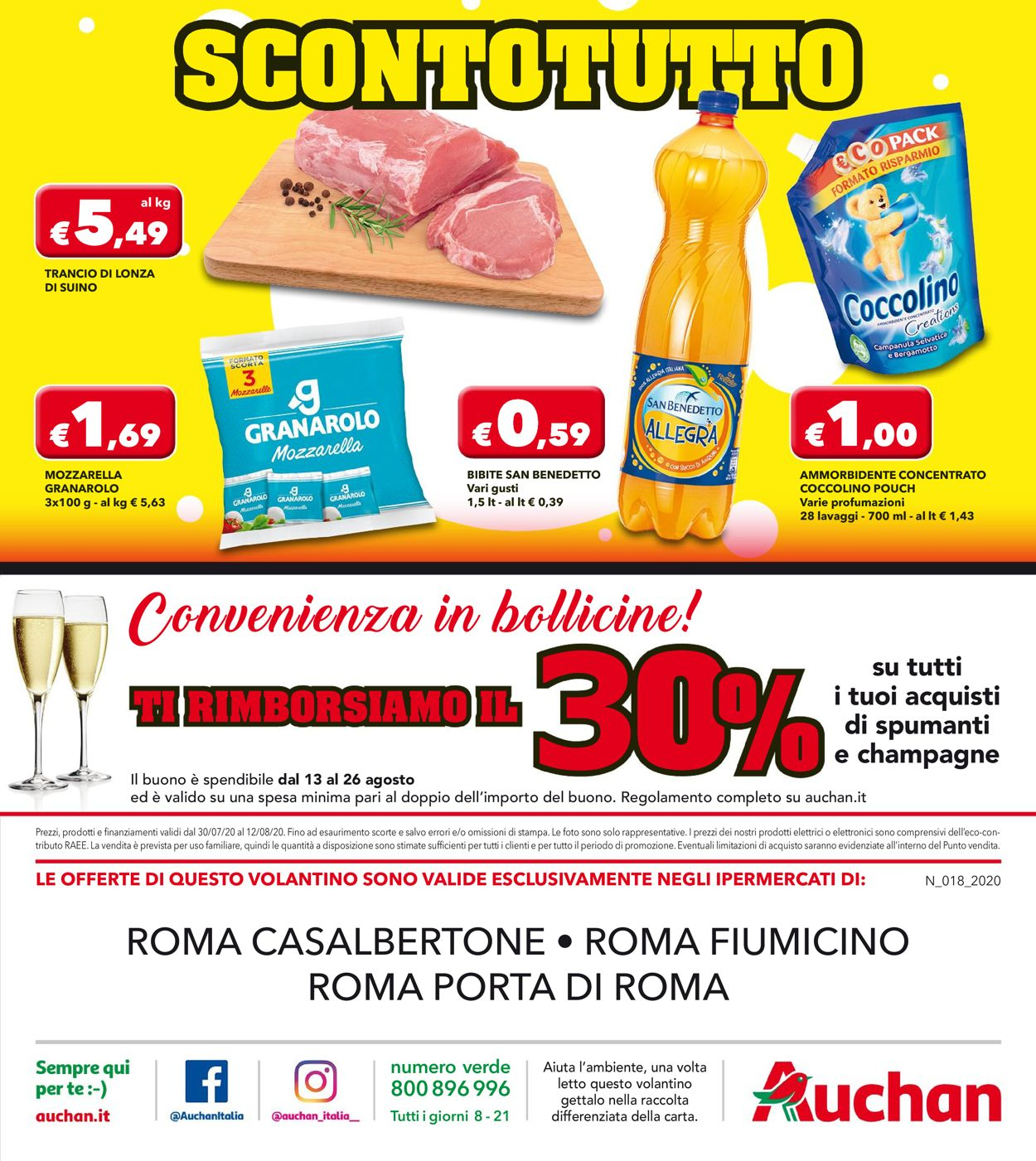 Volantino Auchan - Offerte 30/07-12/08/2020 (Pagina 16)