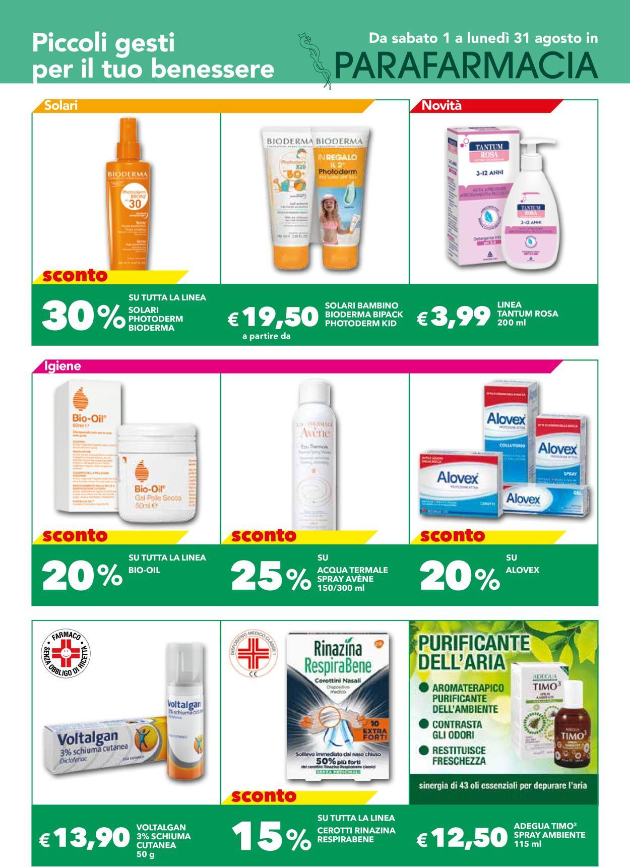 Volantino Auchan - Offerte 01/08-31/08/2020