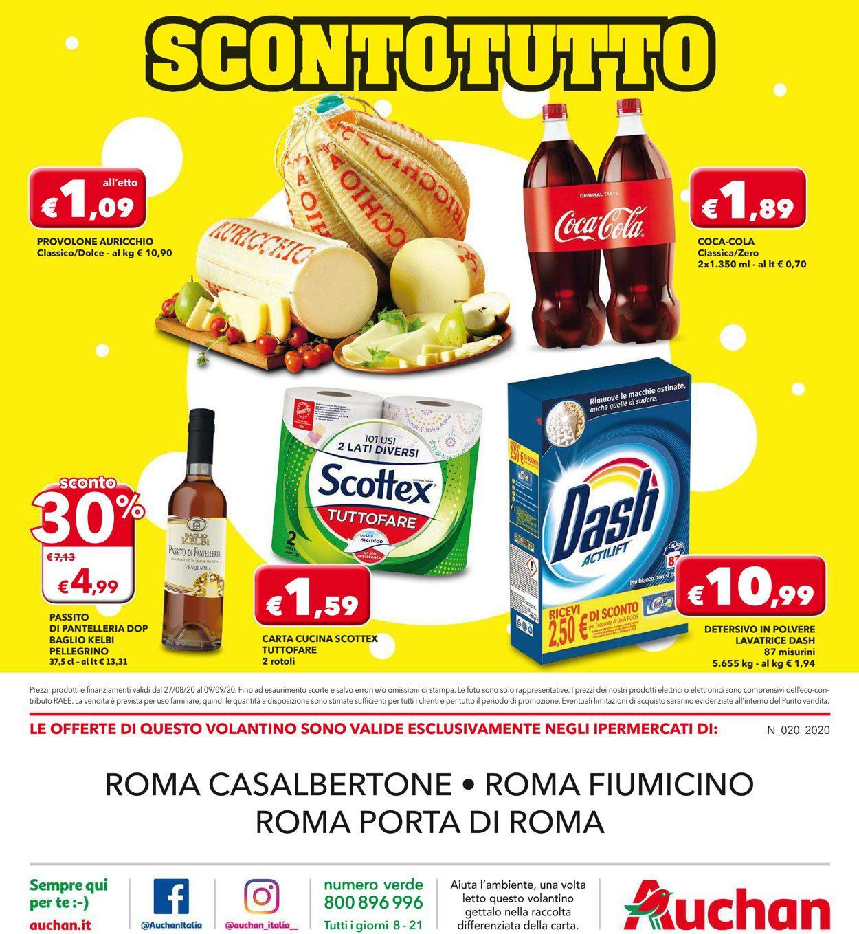 Volantino Auchan - Offerte 27/08-09/09/2020 (Pagina 16)