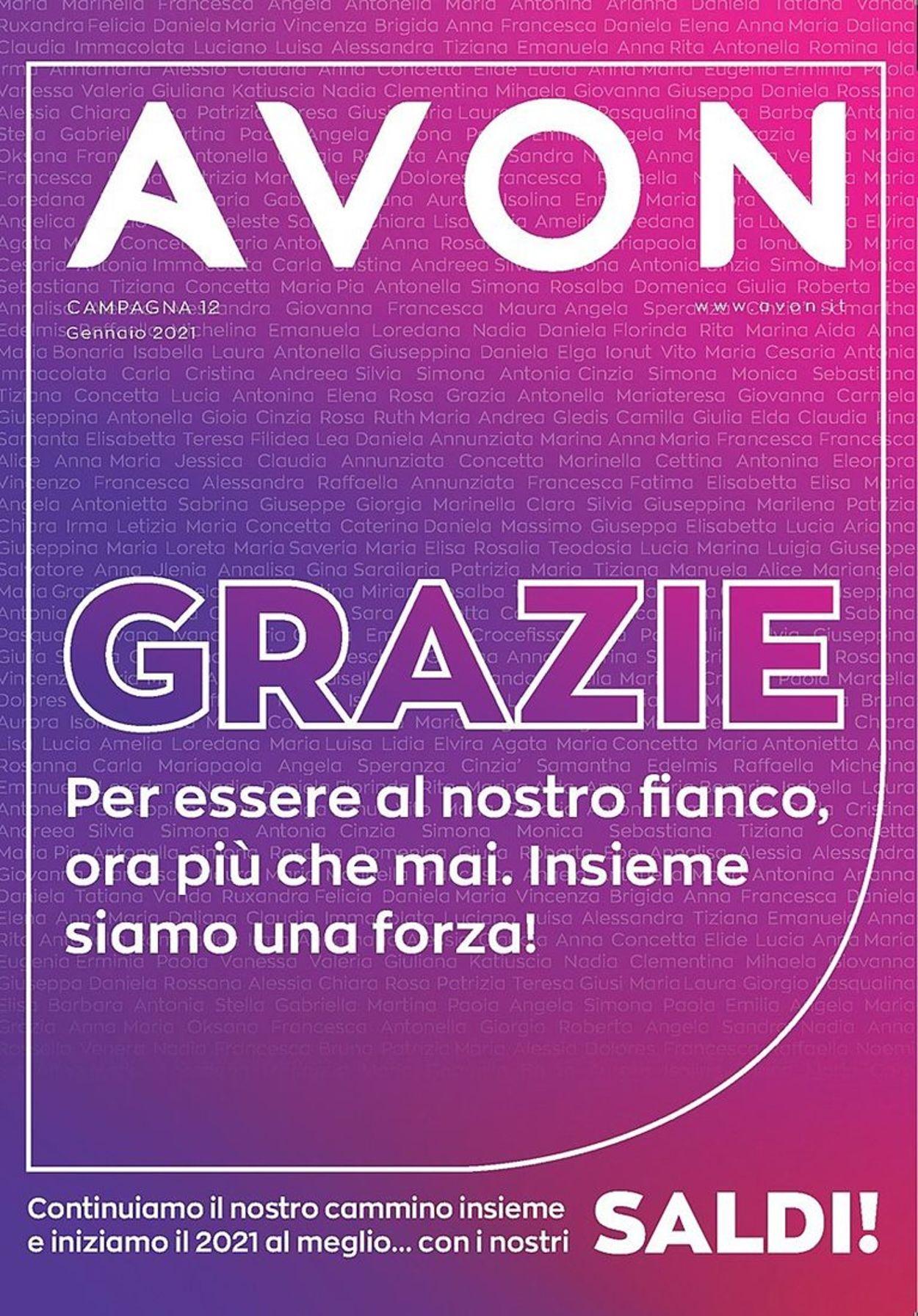 Volantino Avon - Offerte 01/01-31/01/2021