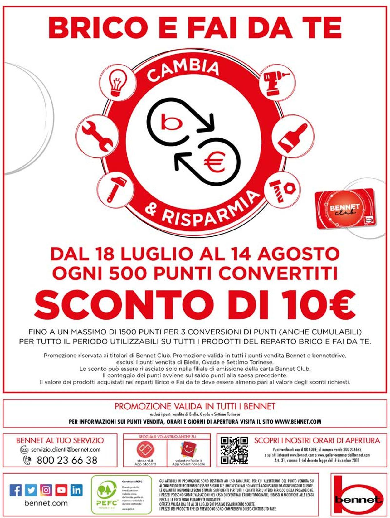 Volantino bennet - Offerte 18/07-31/07/2019 (Pagina 24)