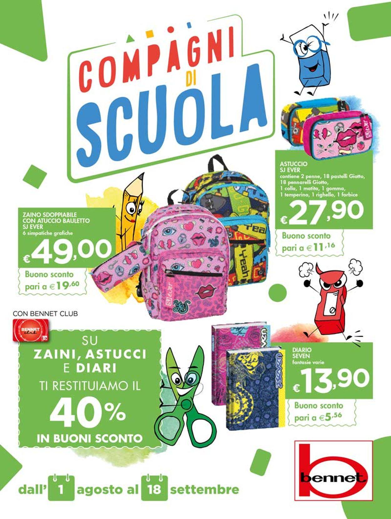 Volantino bennet - Offerte 01/08-18/09/2019