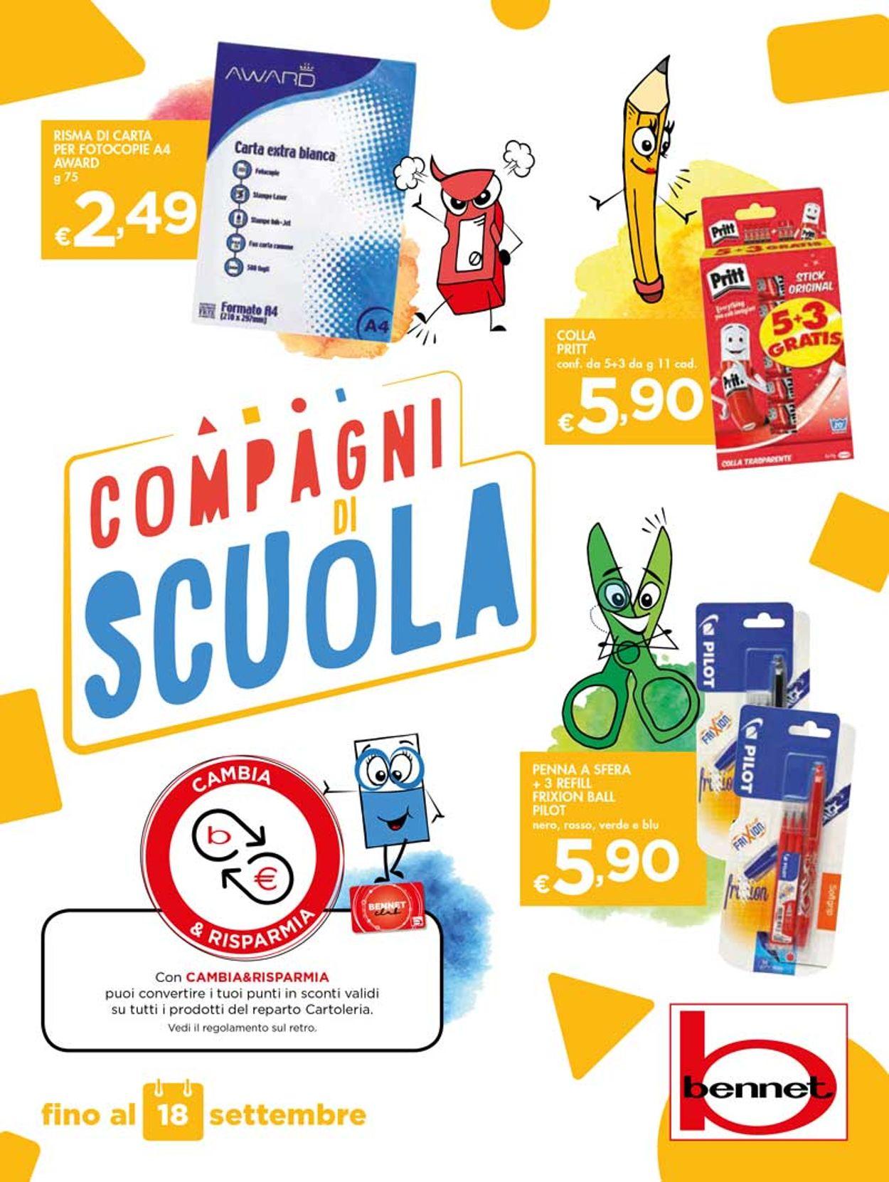 Volantino bennet - Offerte 29/08-18/09/2019