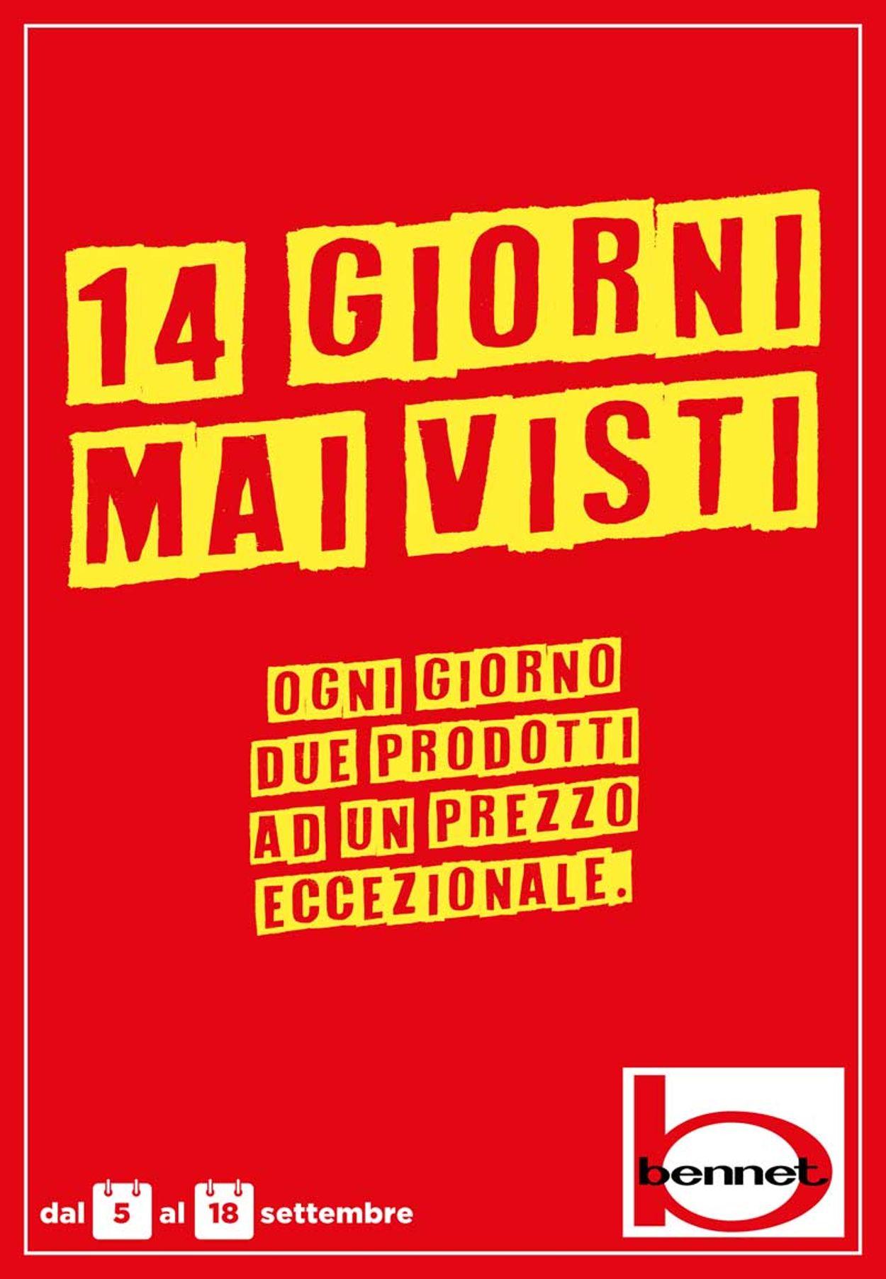 Volantino bennet - Offerte 05/09-18/09/2019