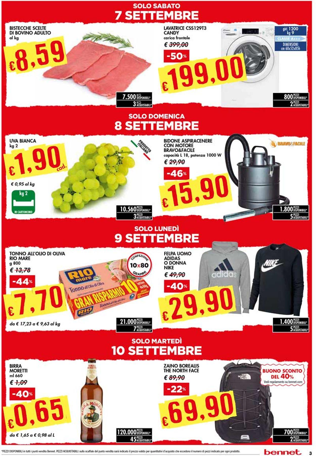 Volantino bennet - Offerte 05/09-18/09/2019 (Pagina 3)