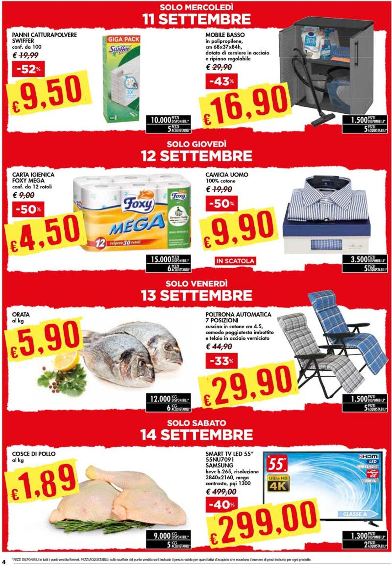 Volantino bennet - Offerte 05/09-18/09/2019 (Pagina 4)