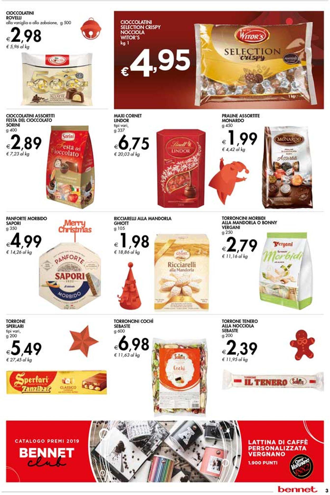 Volantino Il volantino natalizio di bennet - Offerte 12/12-24/12/2019 (Pagina 3)