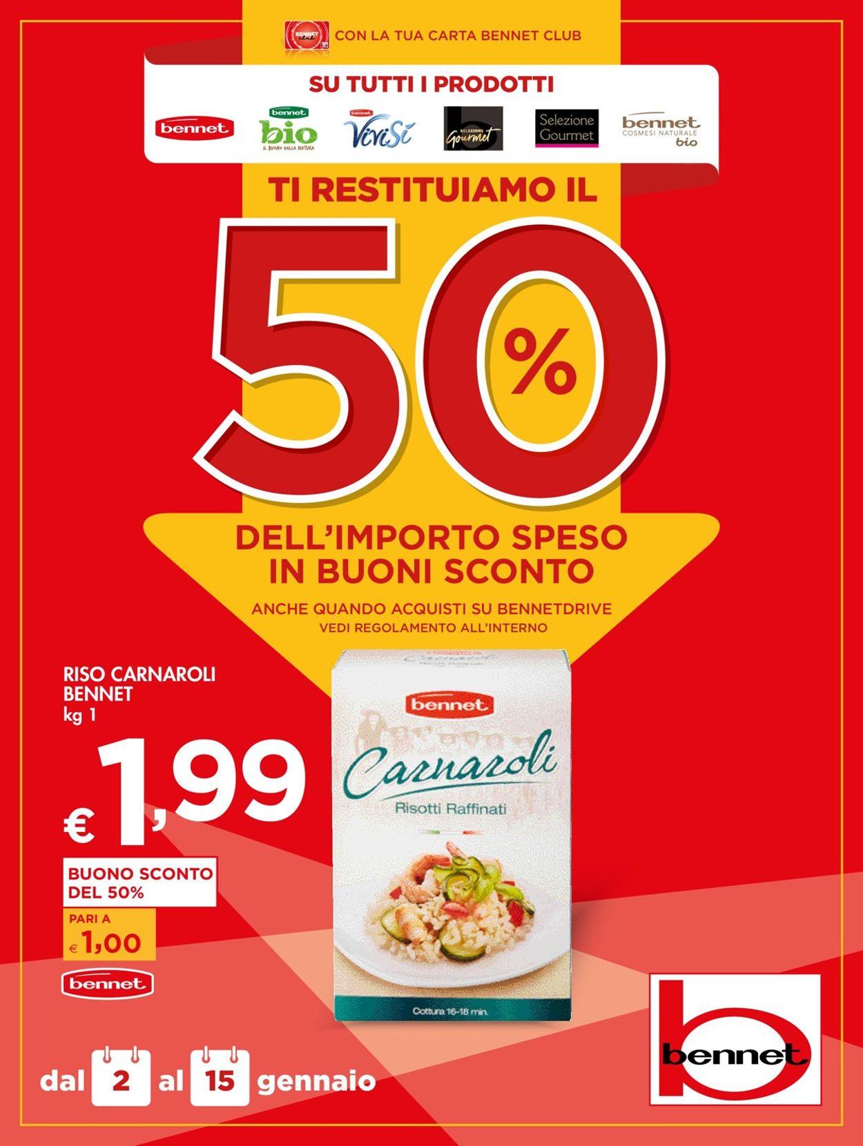 Volantino bennet - Offerte 02/01-15/01/2020