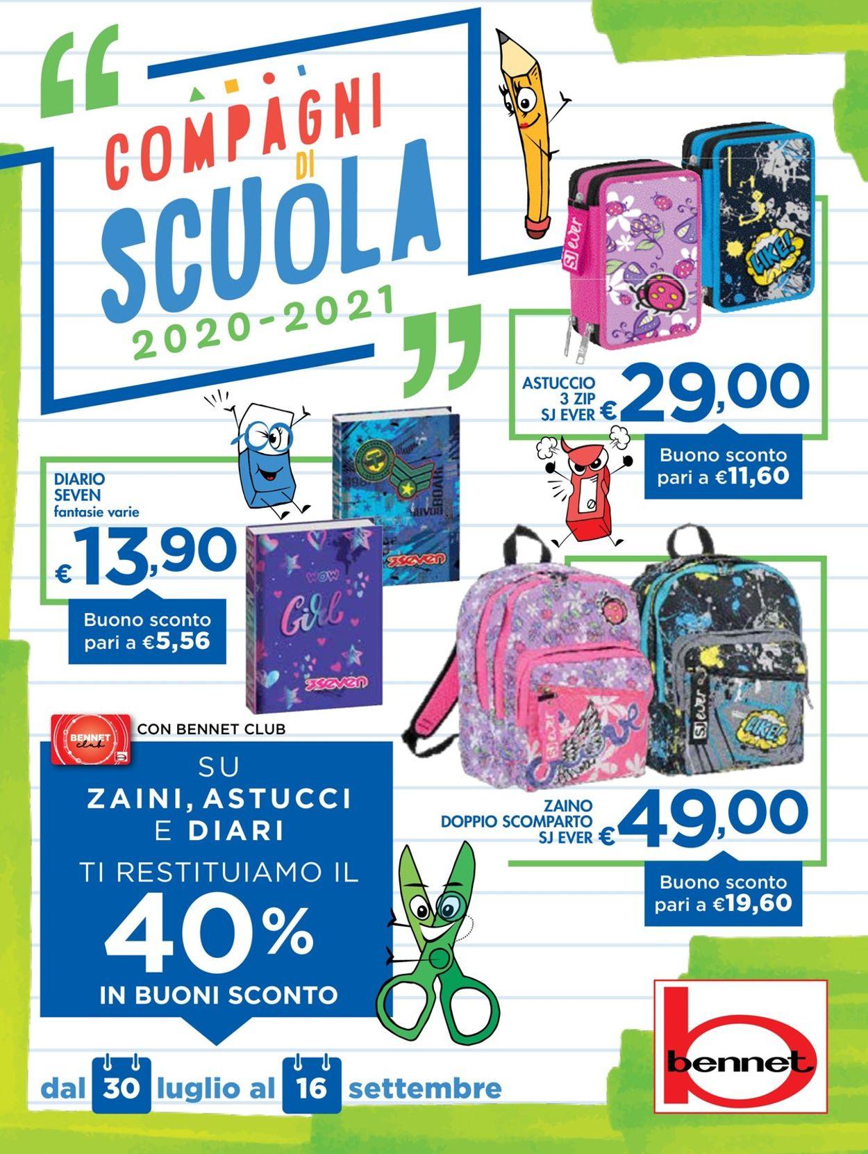Volantino bennet - Offerte 30/07-16/09/2020