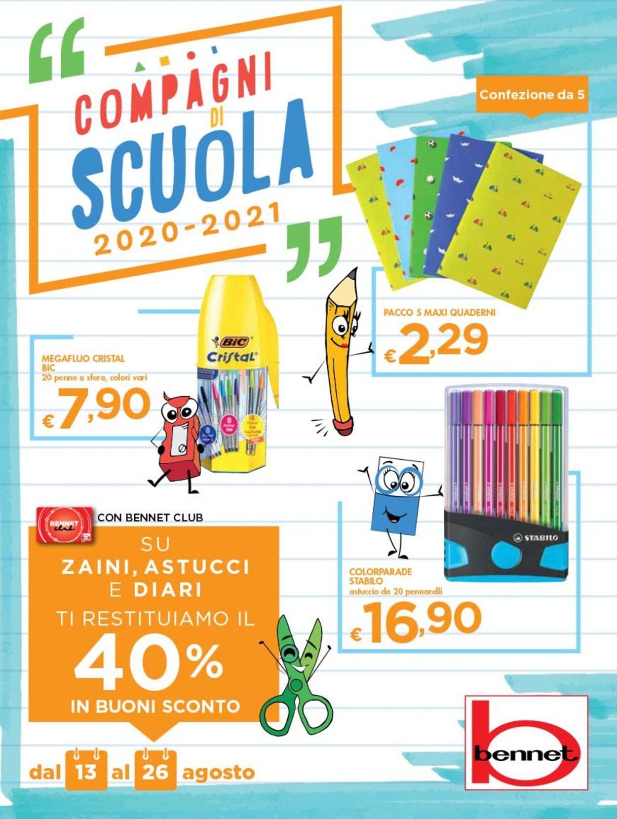 Volantino bennet - Offerte 13/08-26/08/2020
