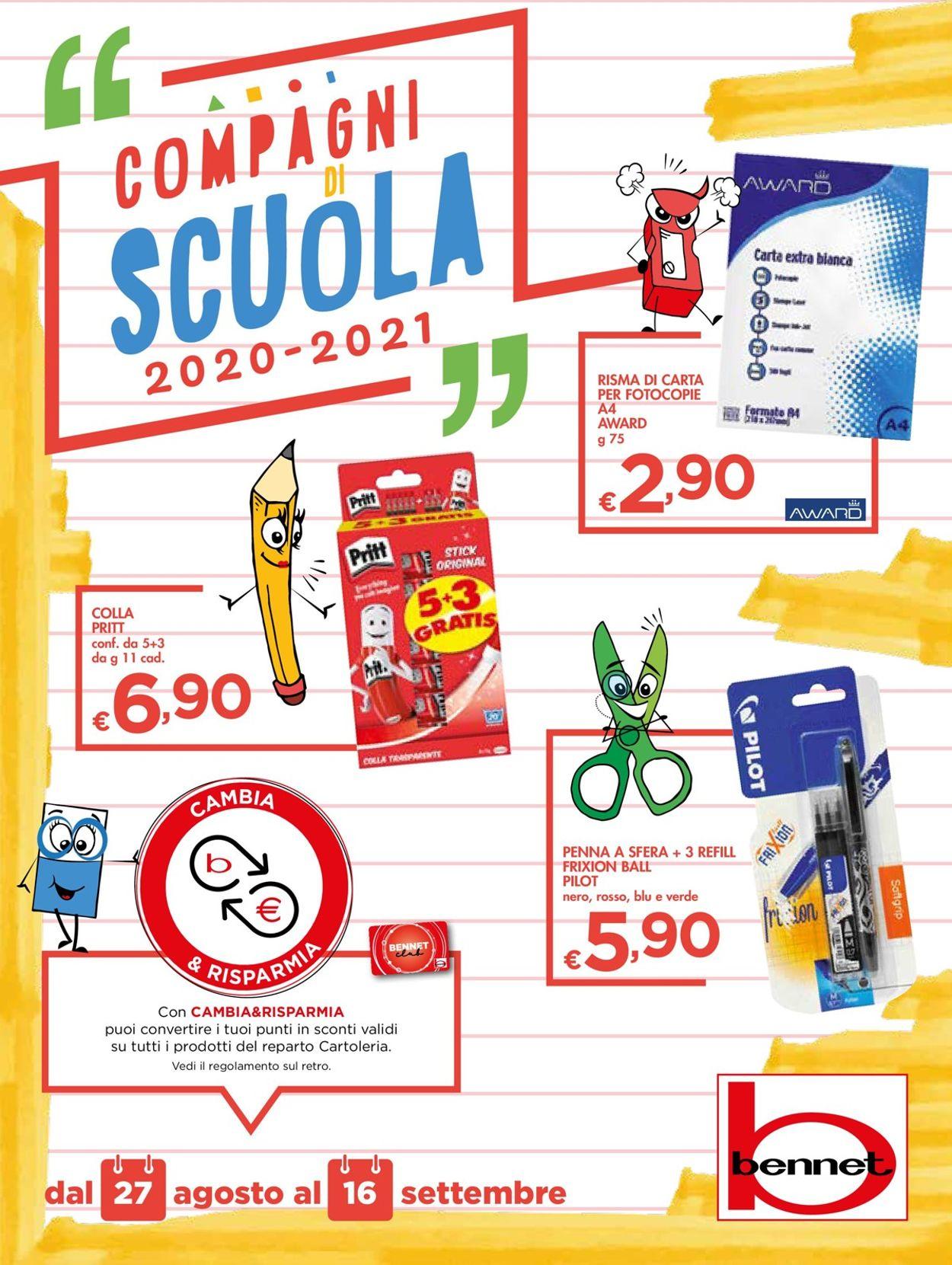 Volantino bennet - Offerte 27/08-16/09/2020