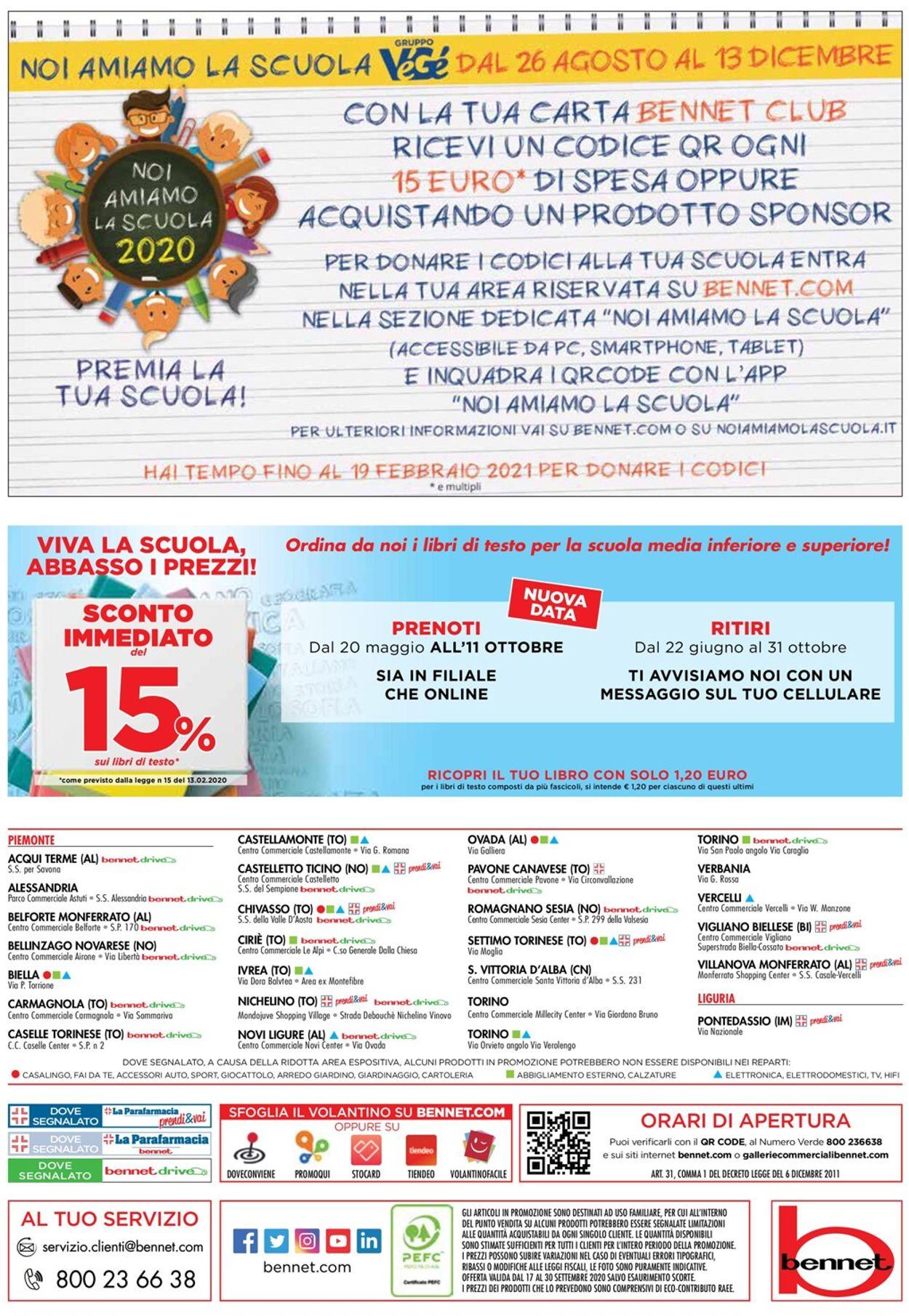 Volantino bennet - Offerte 17/09-30/09/2020 (Pagina 32)