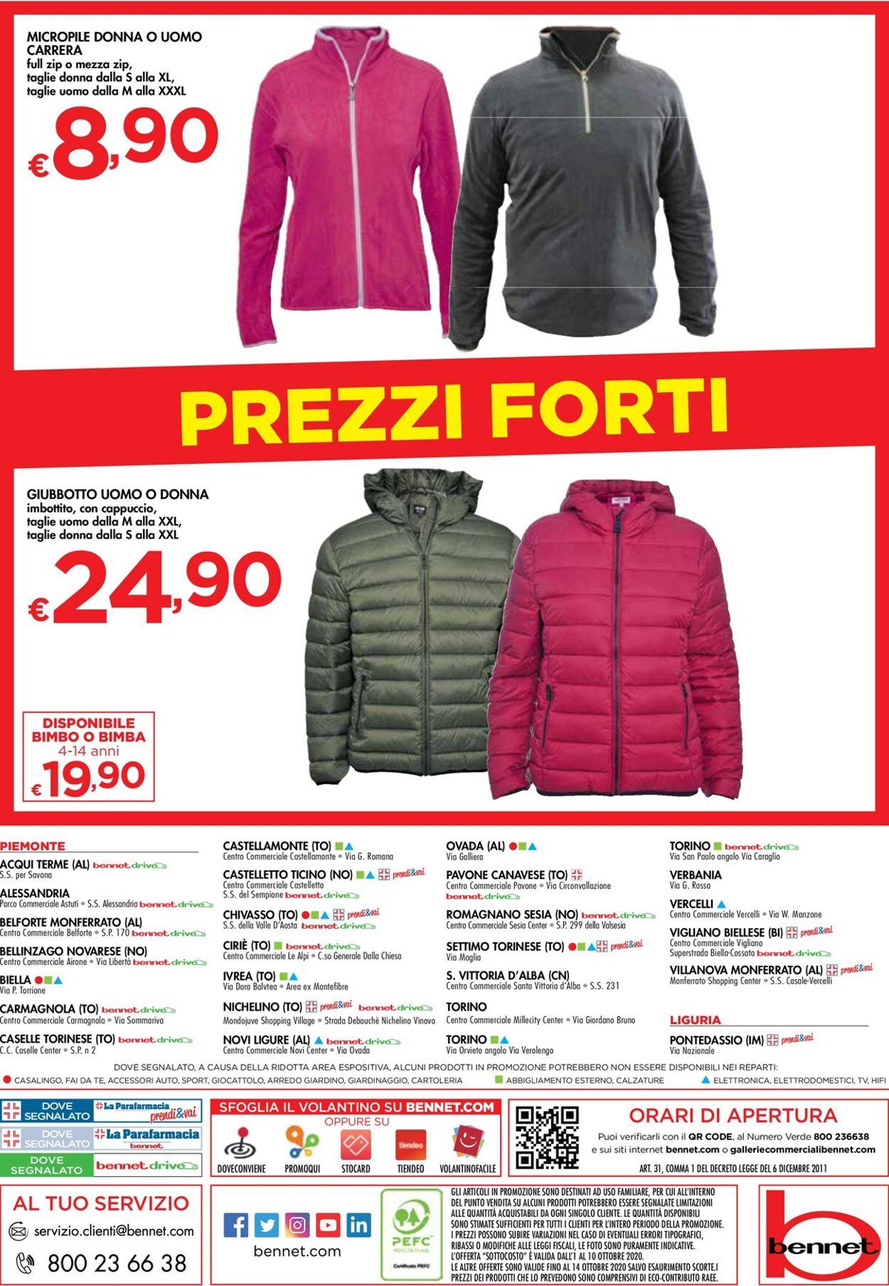 Volantino bennet - Offerte 01/10-10/10/2020 (Pagina 36)
