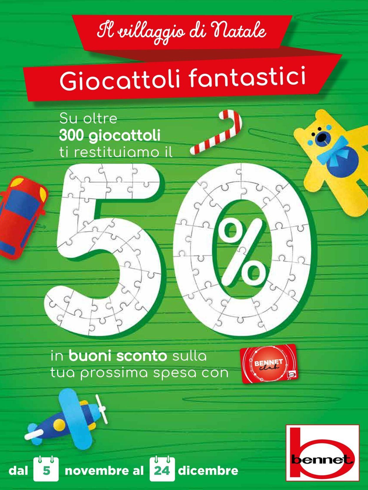 Volantino bennet - Natale 2020 - Offerte 05/11-24/12/2020