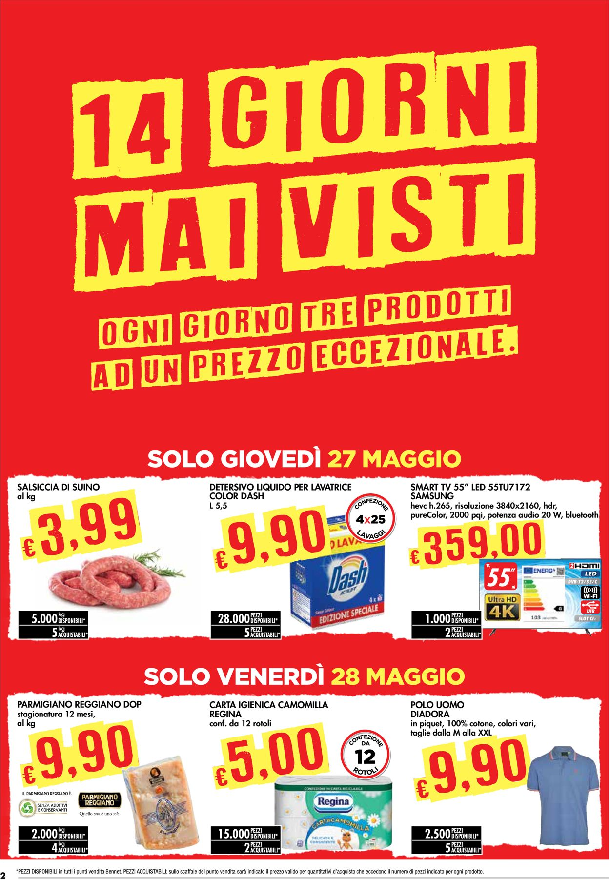 Volantino bennet - Offerte 27/05-09/06/2021 (Pagina 2)