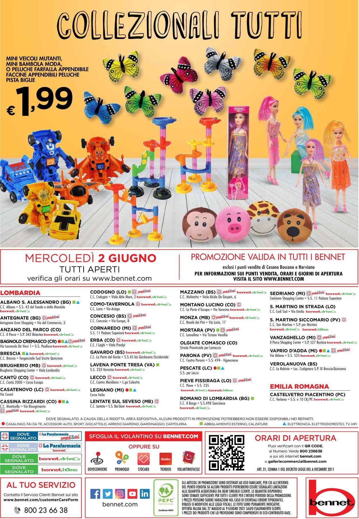 Volantino bennet - Offerte 27/05-09/06/2021 (Pagina 36)