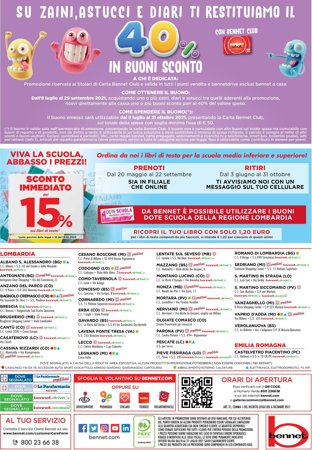 Volantino bennet - Offerte 08/07-21/07/2021 (Pagina 32)