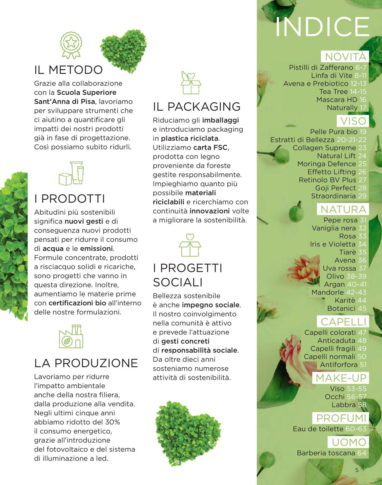 Volantino Bottega Verde - Offerte 10/03-31/08/2021 (Pagina 5)