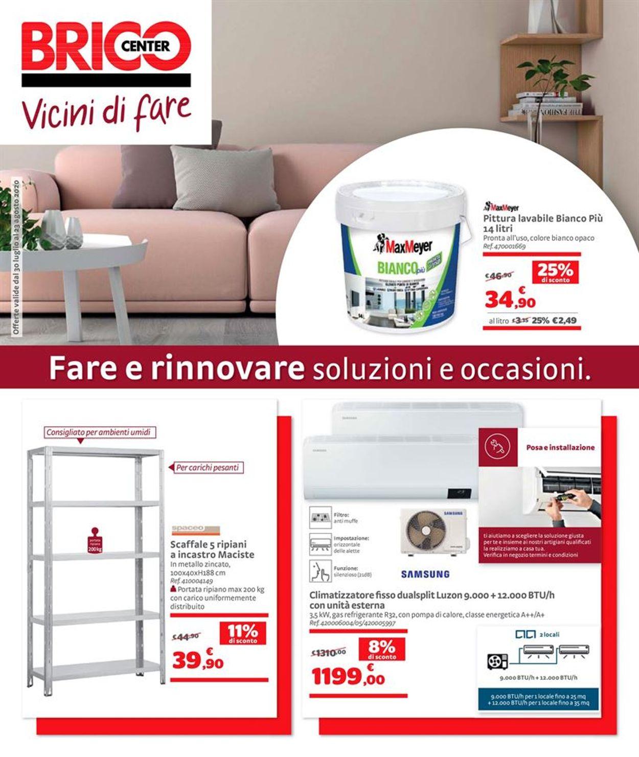 Volantino Bricocenter - Offerte 30/07-23/08/2020