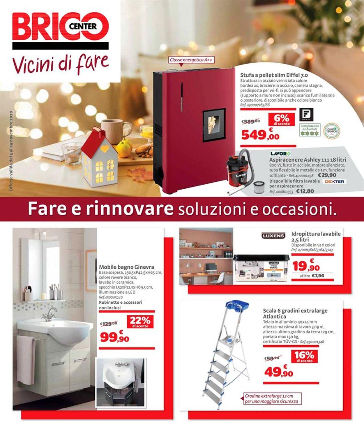 Volantino Bricocenter - Offerte 05/11-29/11/2020