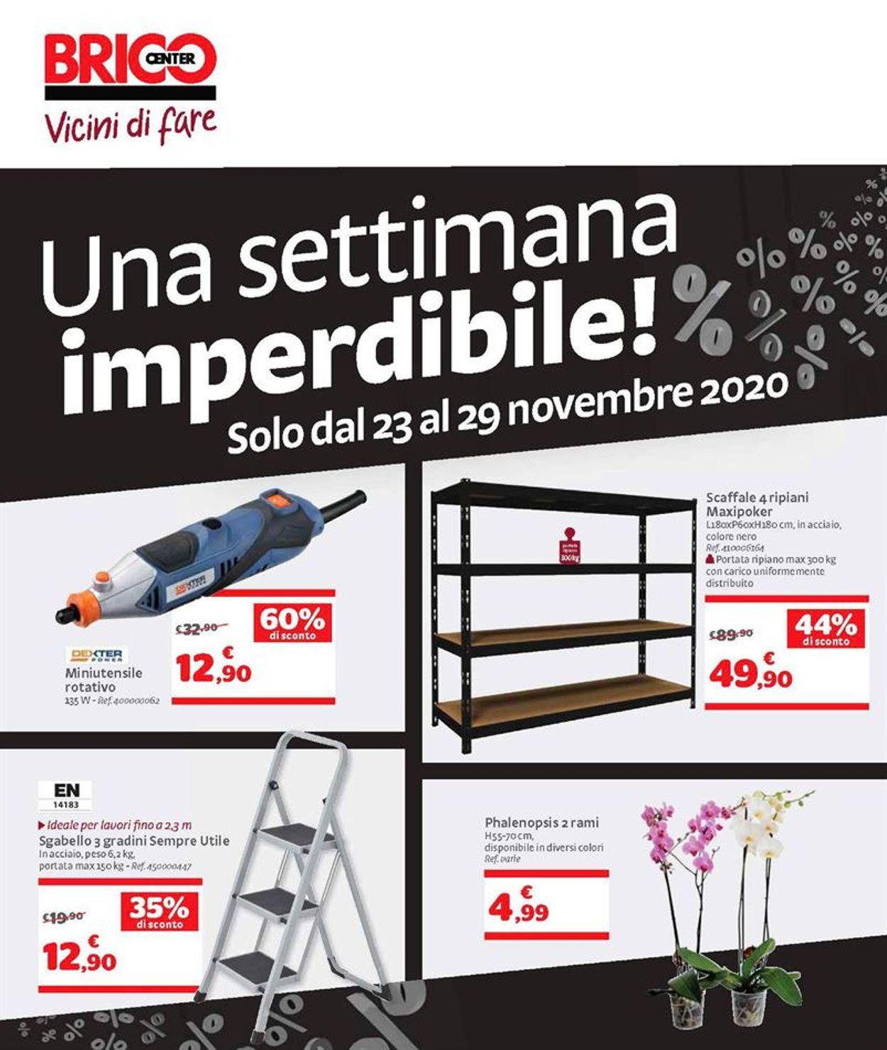 Volantino Bricocenter Black Friday 2020 - Offerte 23/11-29/11/2020