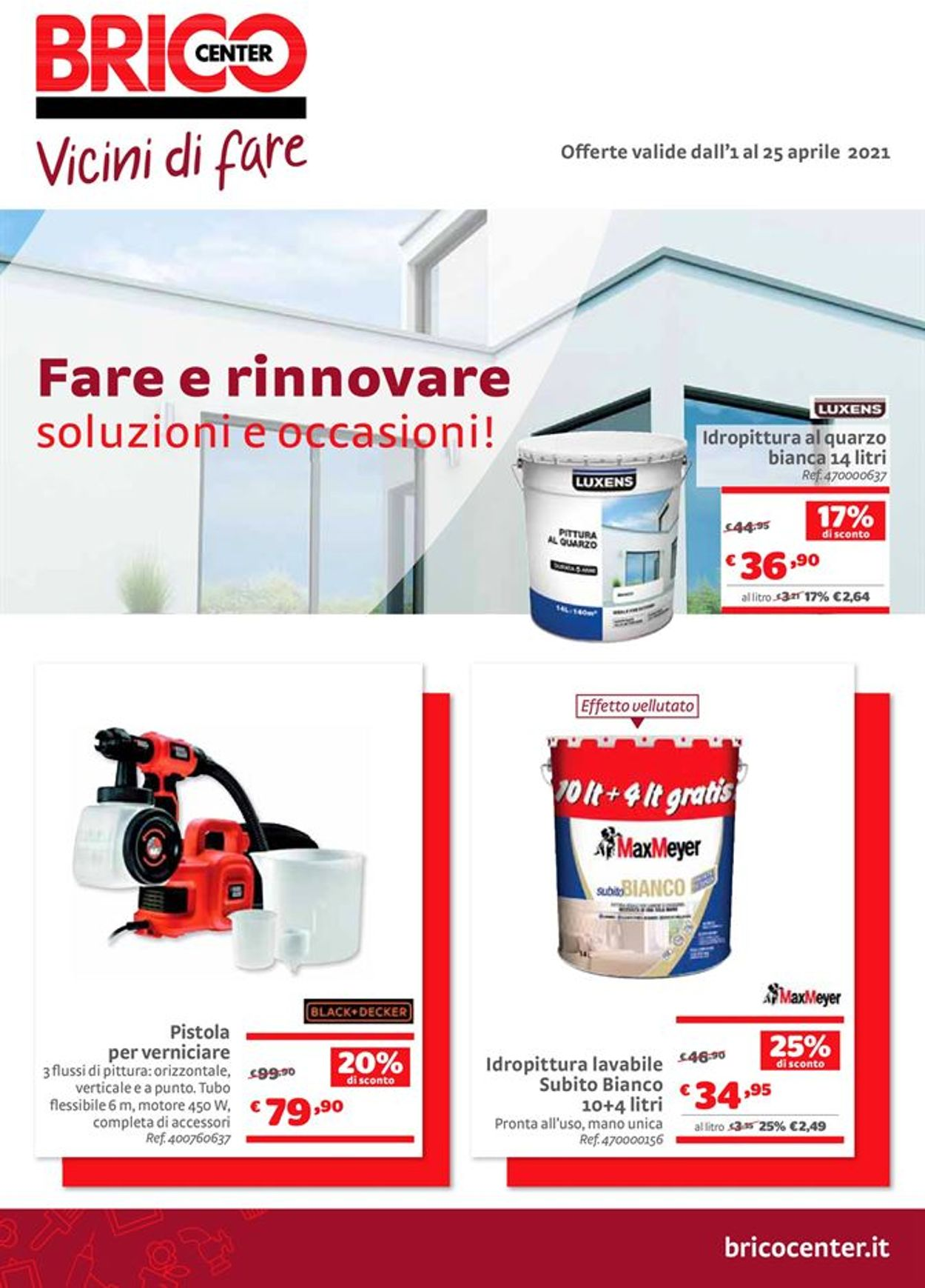 Volantino Bricocenter - Offerte 01/04-25/04/2021