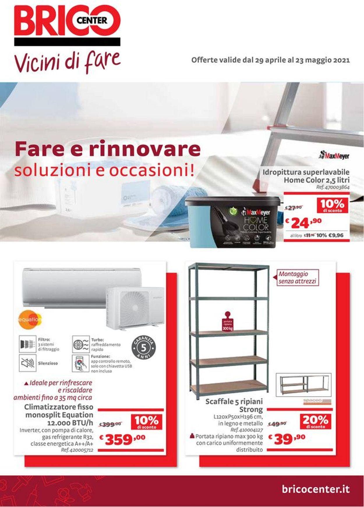 Volantino Bricocenter - Offerte 29/04-23/05/2021