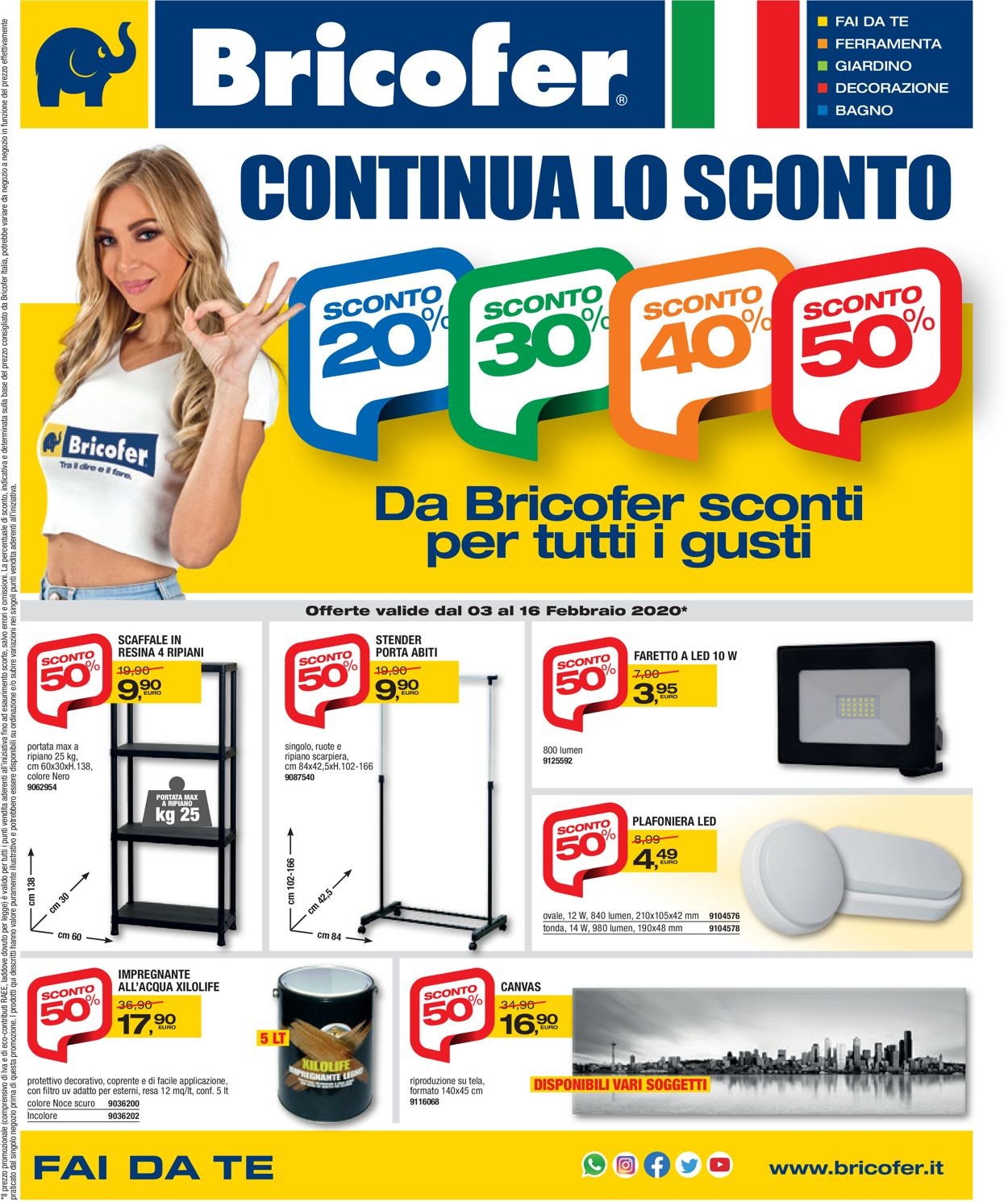 Volantino Bricofer - Offerte 03/02-16/02/2020