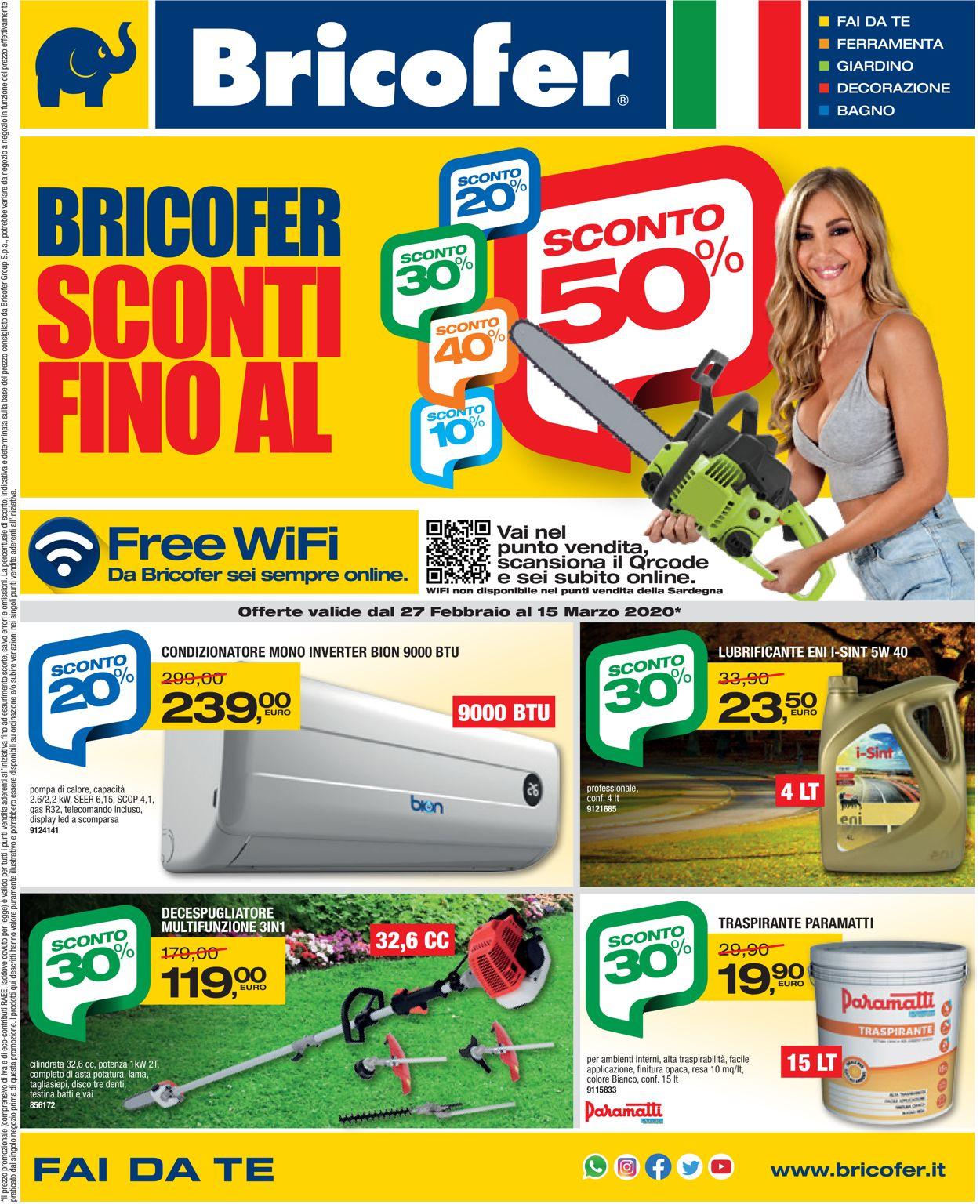 Volantino Bricofer - Offerte 27/02-15/03/2020