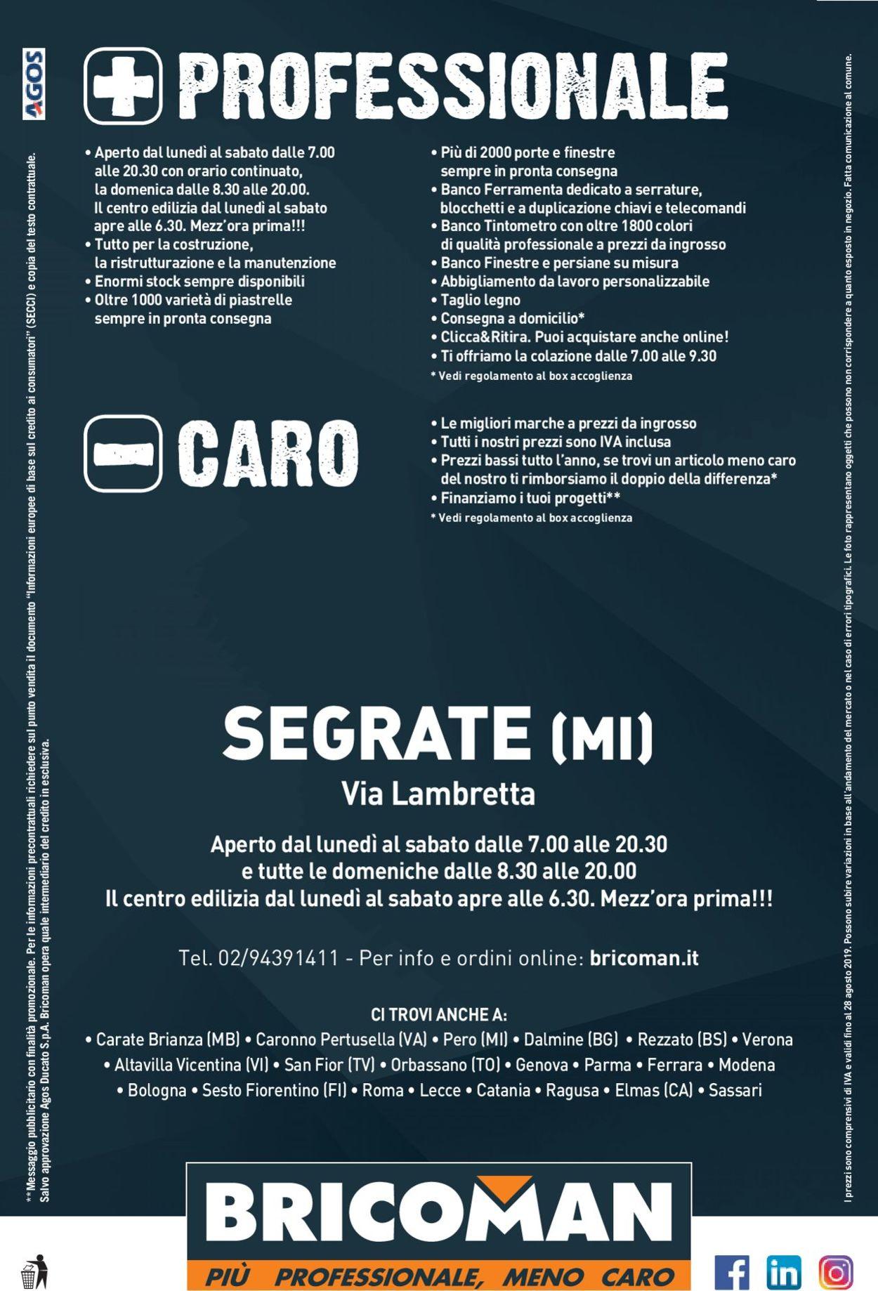 Volantino Bricoman - Offerte 22/07-28/08/2019 (Pagina 32)