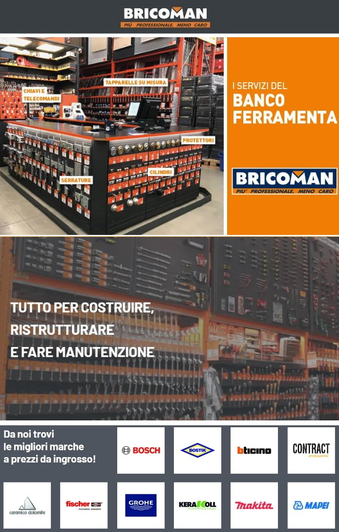 Volantino Bricoman - Offerte 20/02-02/03/2020