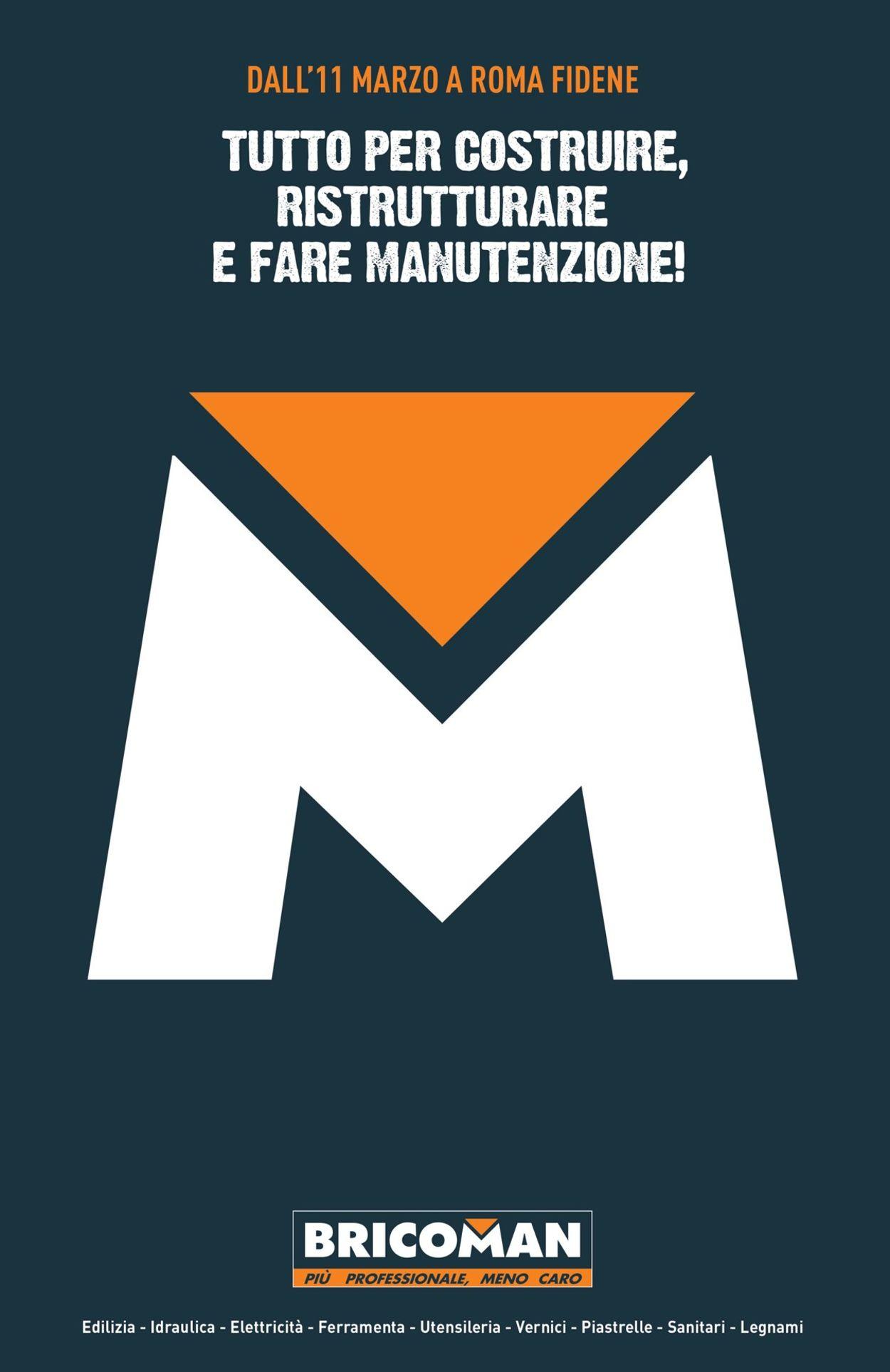 Volantino Bricoman - Offerte 07/04-12/09/2020